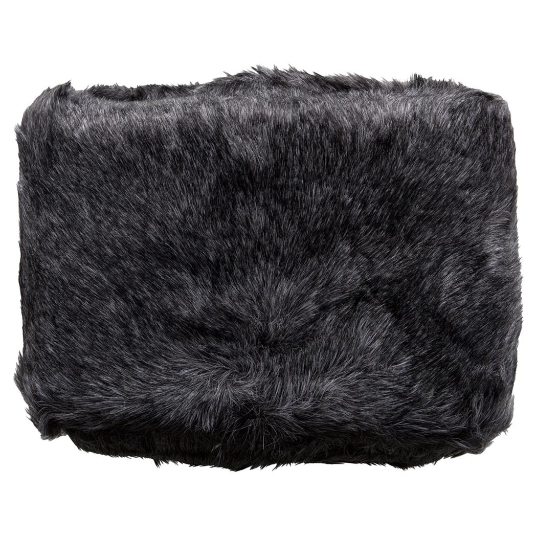Wilke Rustic Lodge Black Faux Fur Throw Blanket