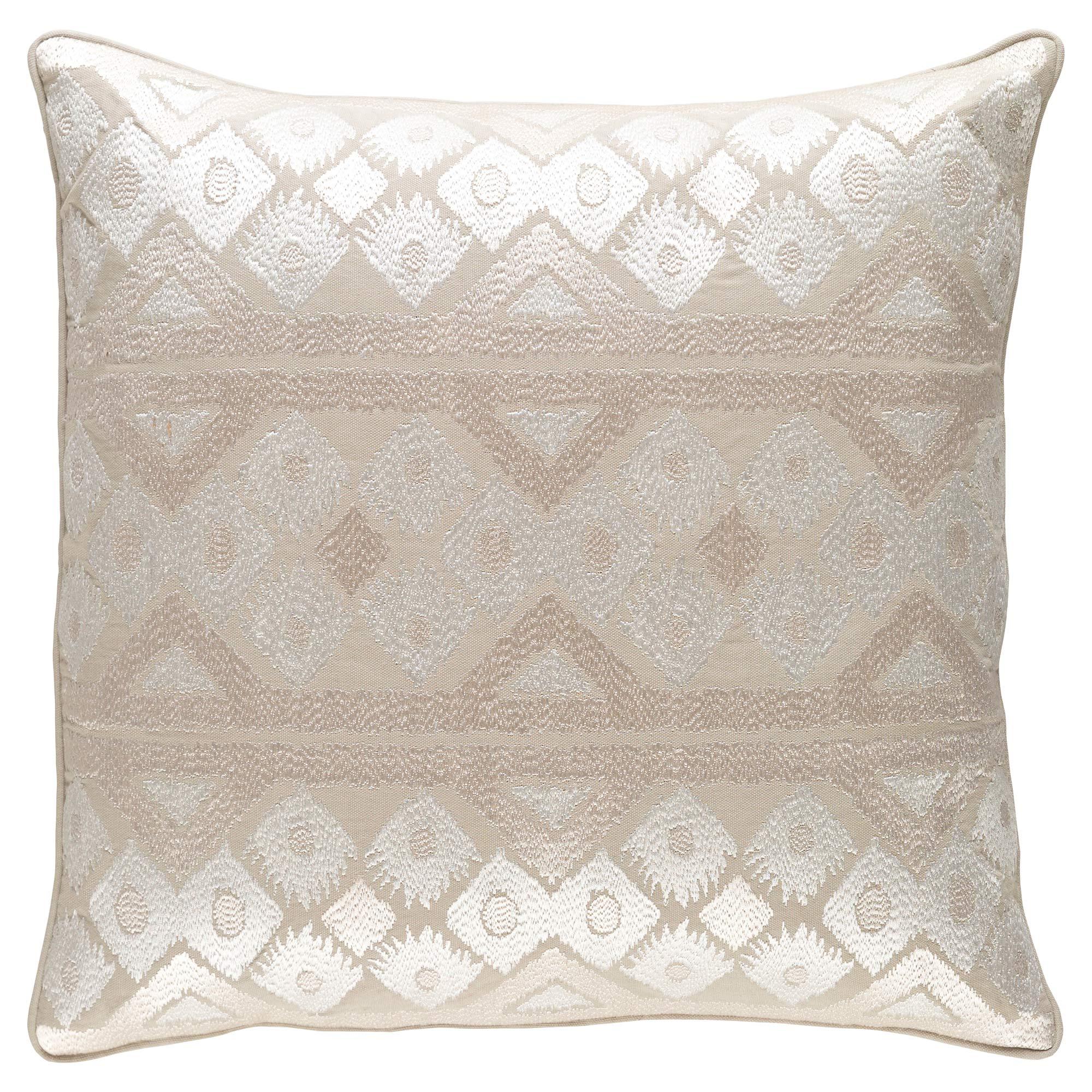 Gilji Global Regency Beige Metallic Pillow - 20x20