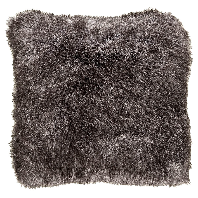 Wilke Rustic Lodge Steel Grey Faux Fur Pillow - 22x22