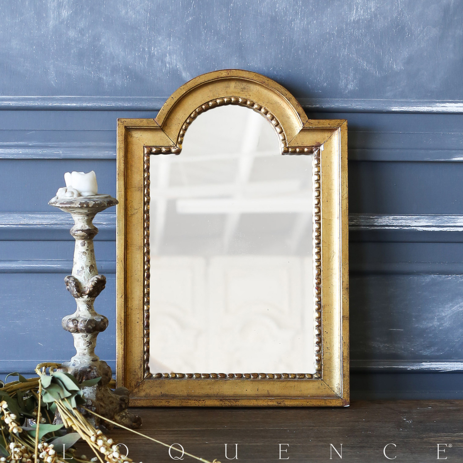 Eloquence® Antique French Gold Gilt Petite Mirror: 1980