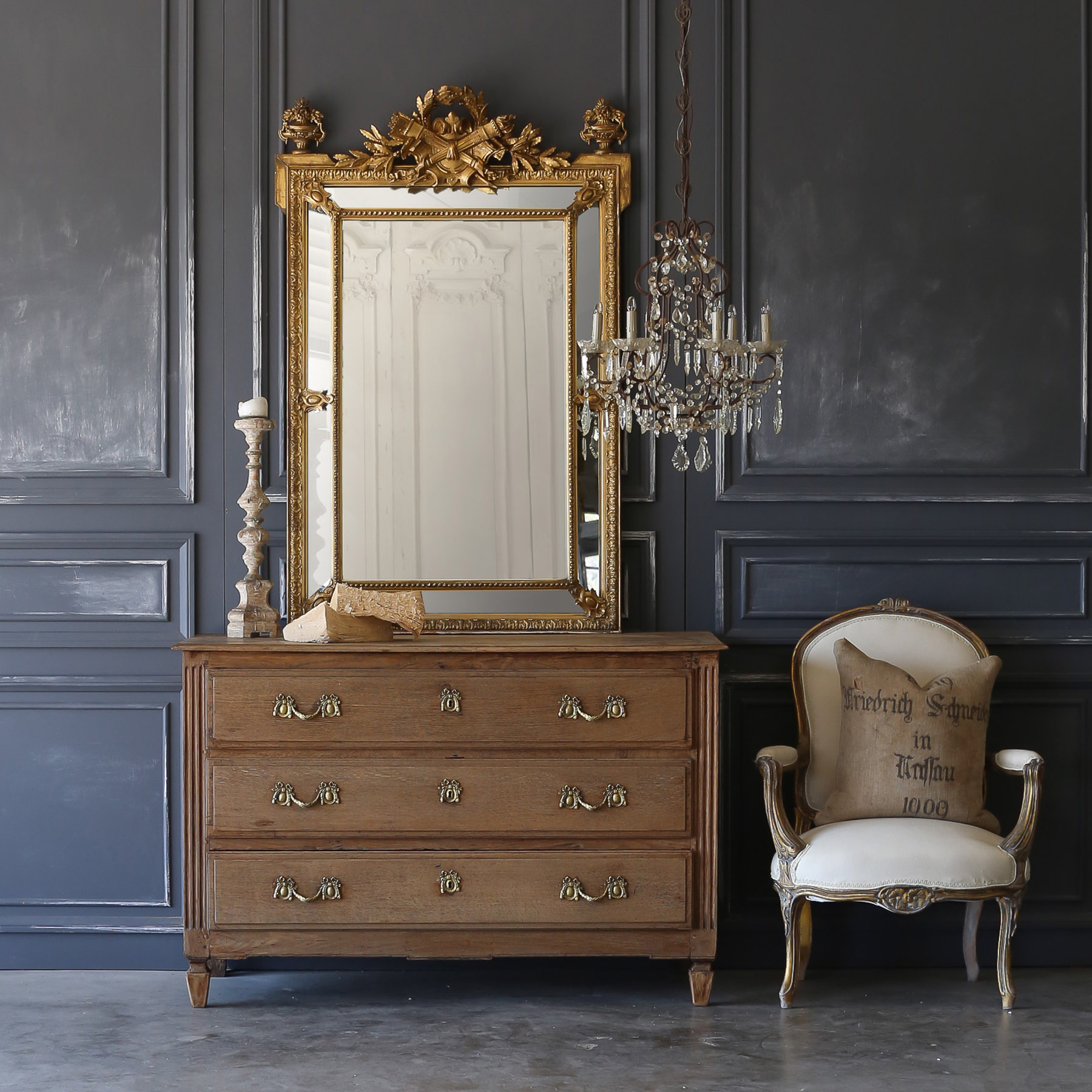 Eloquence® Antique Ornate Mirror: 1900
