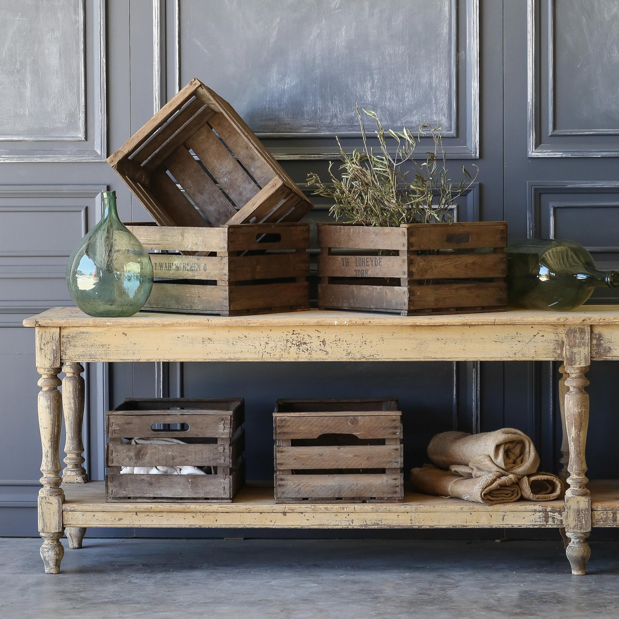 Eloquence® Antique German Market Crates: 1900