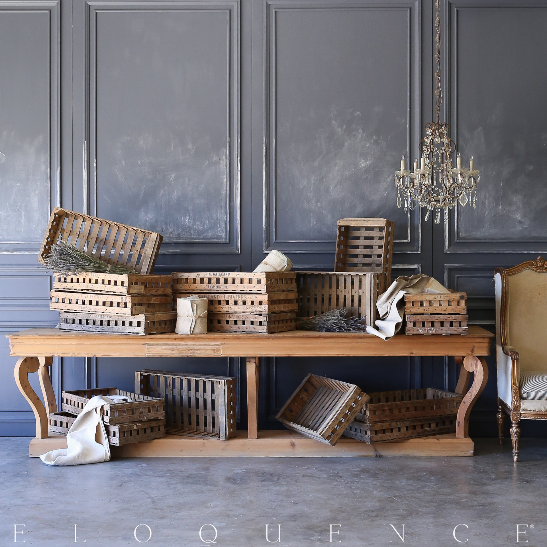 Eloquence® Antique Parisian Market Crates: 1900
