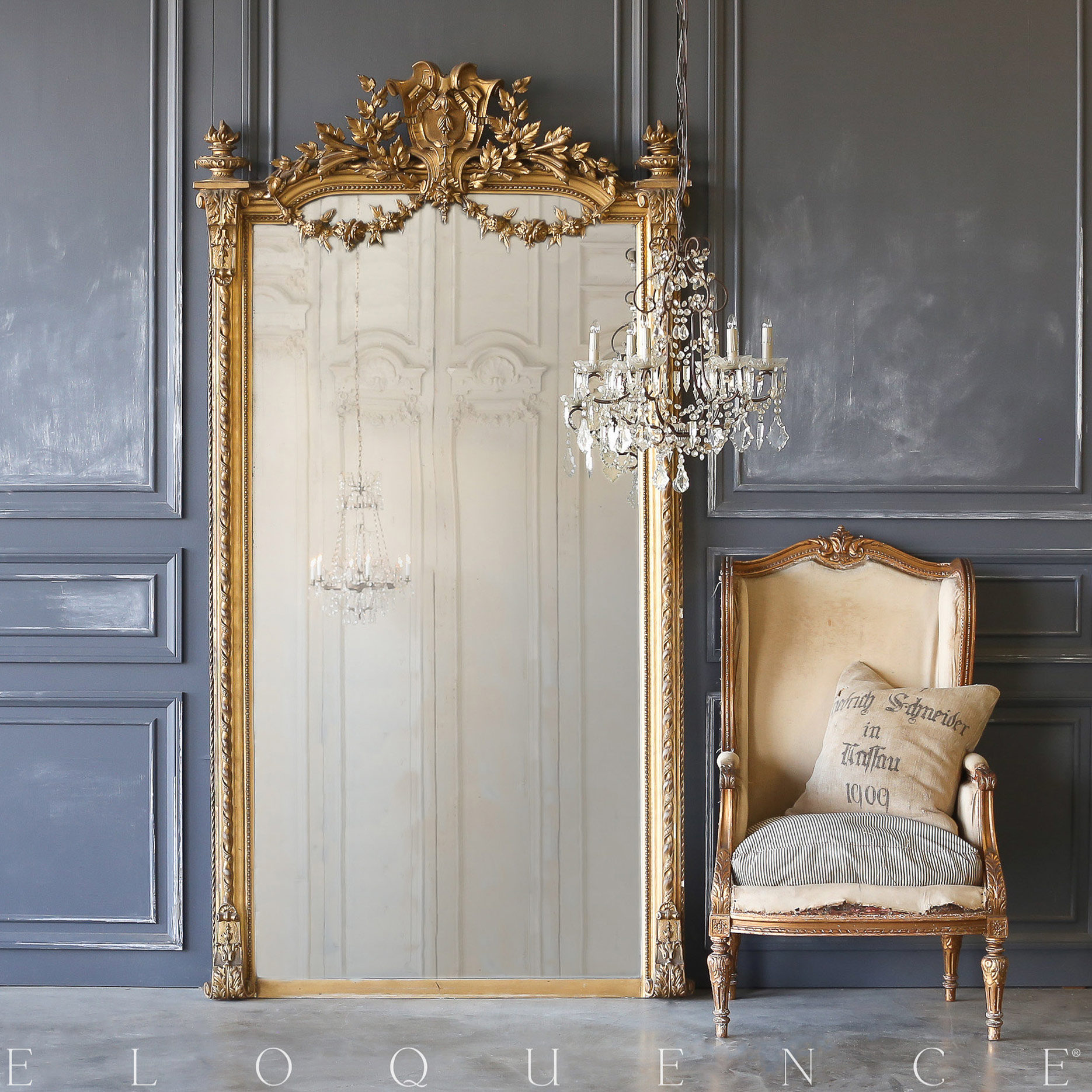 Eloquence® Extra Large Antique Mirror: 1880
