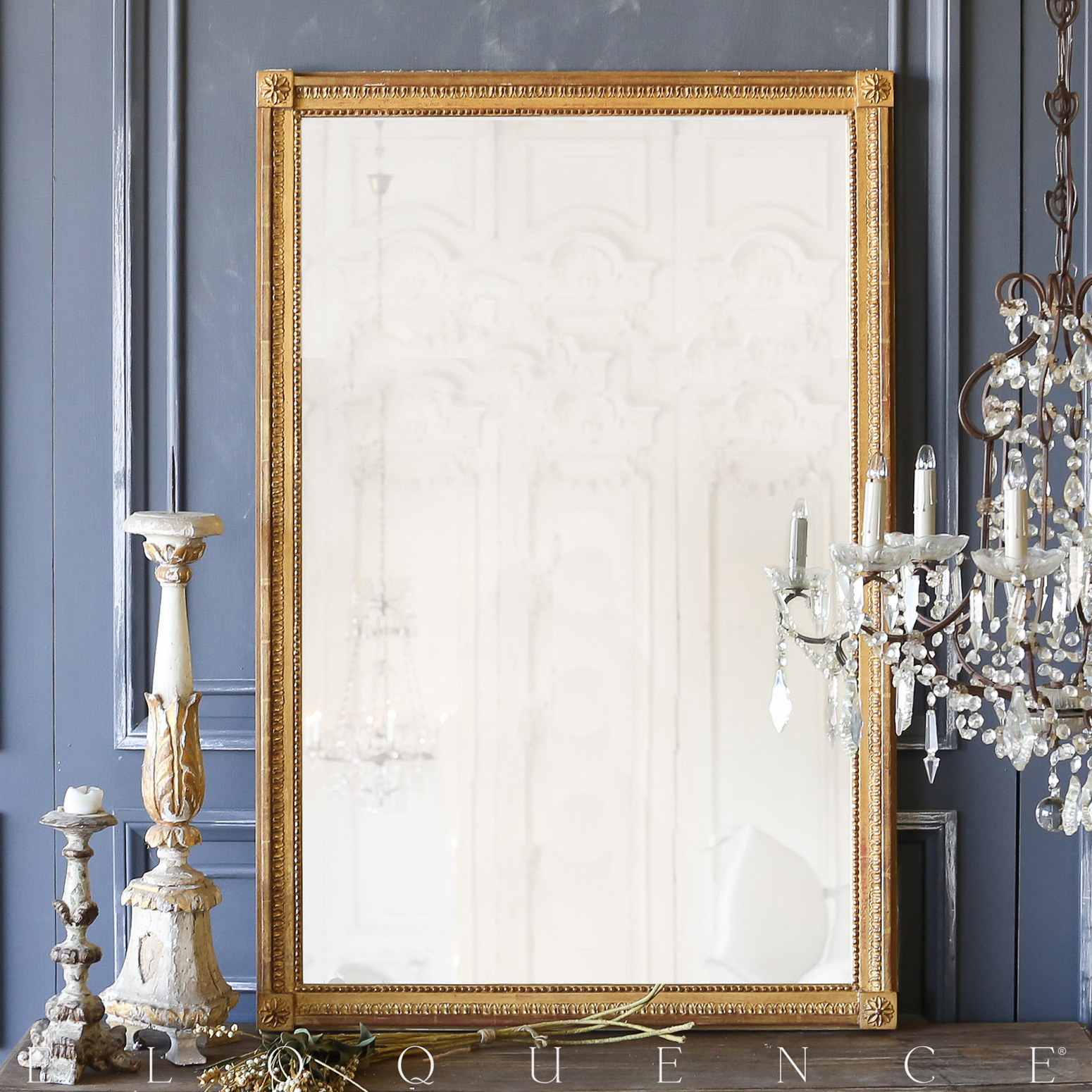 Eloquence® Antique French Gold Gilt Mirror: 1980