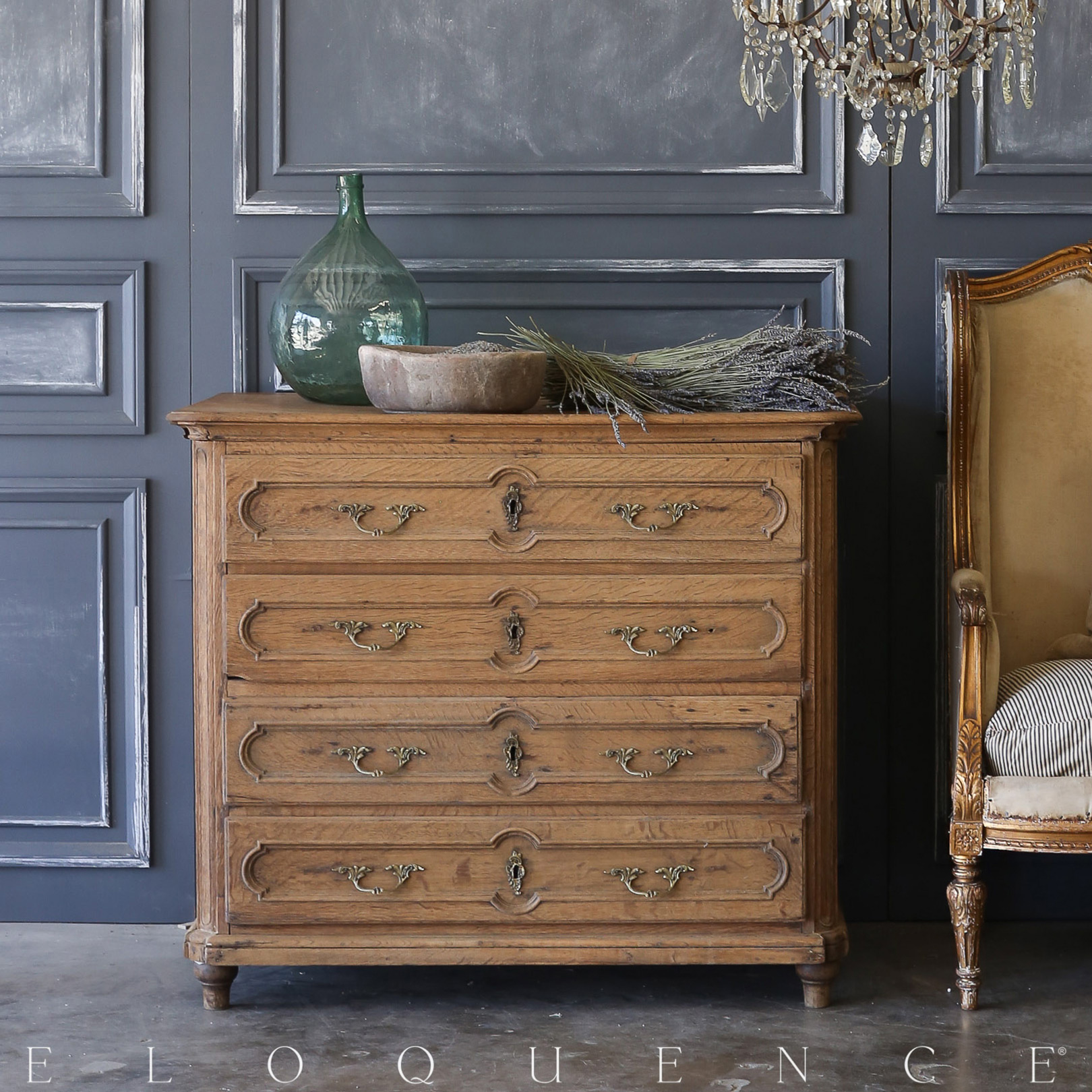 Eloquence® Antique French Commode: 1870