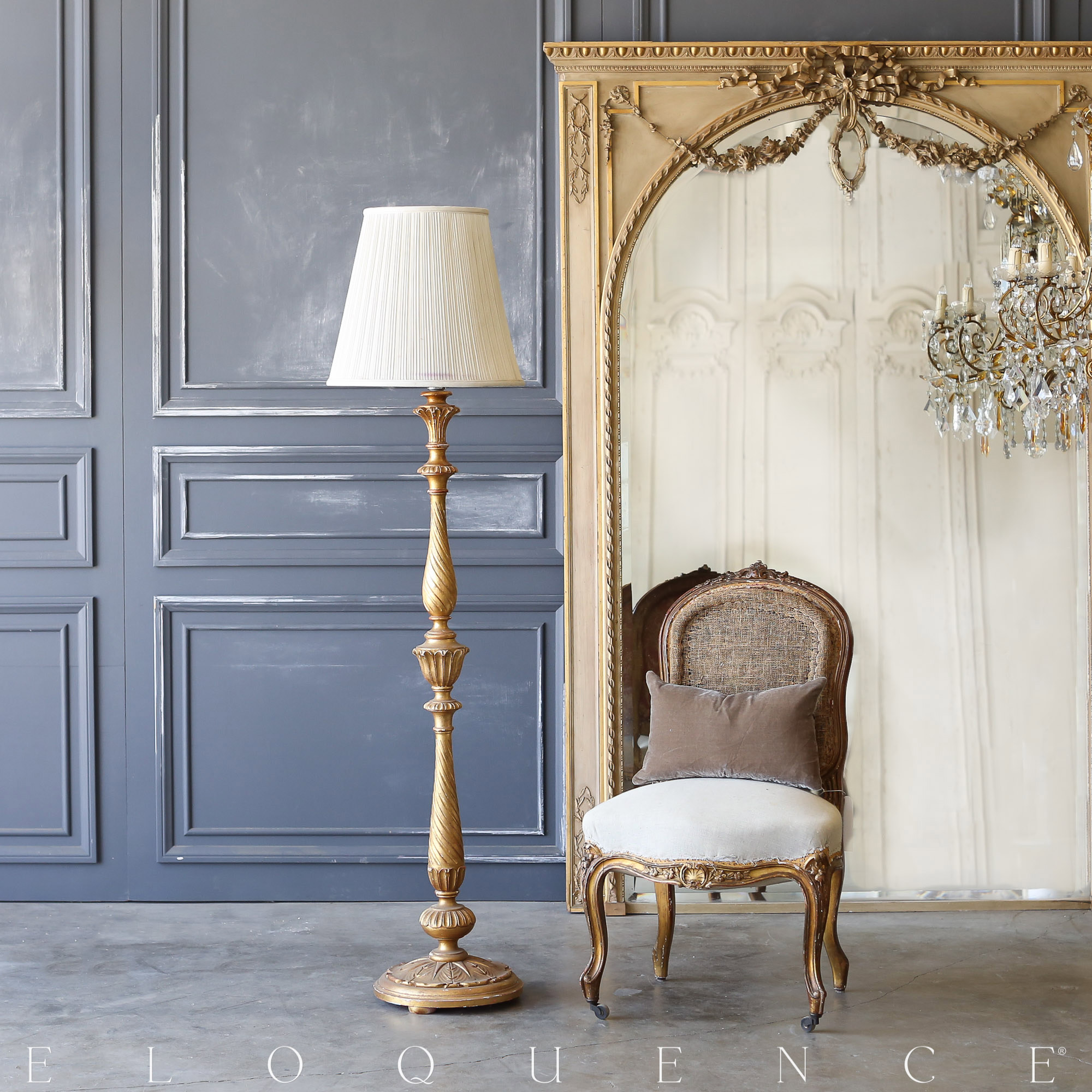 Eloquence® Vintage French Floor Lamp: 1940