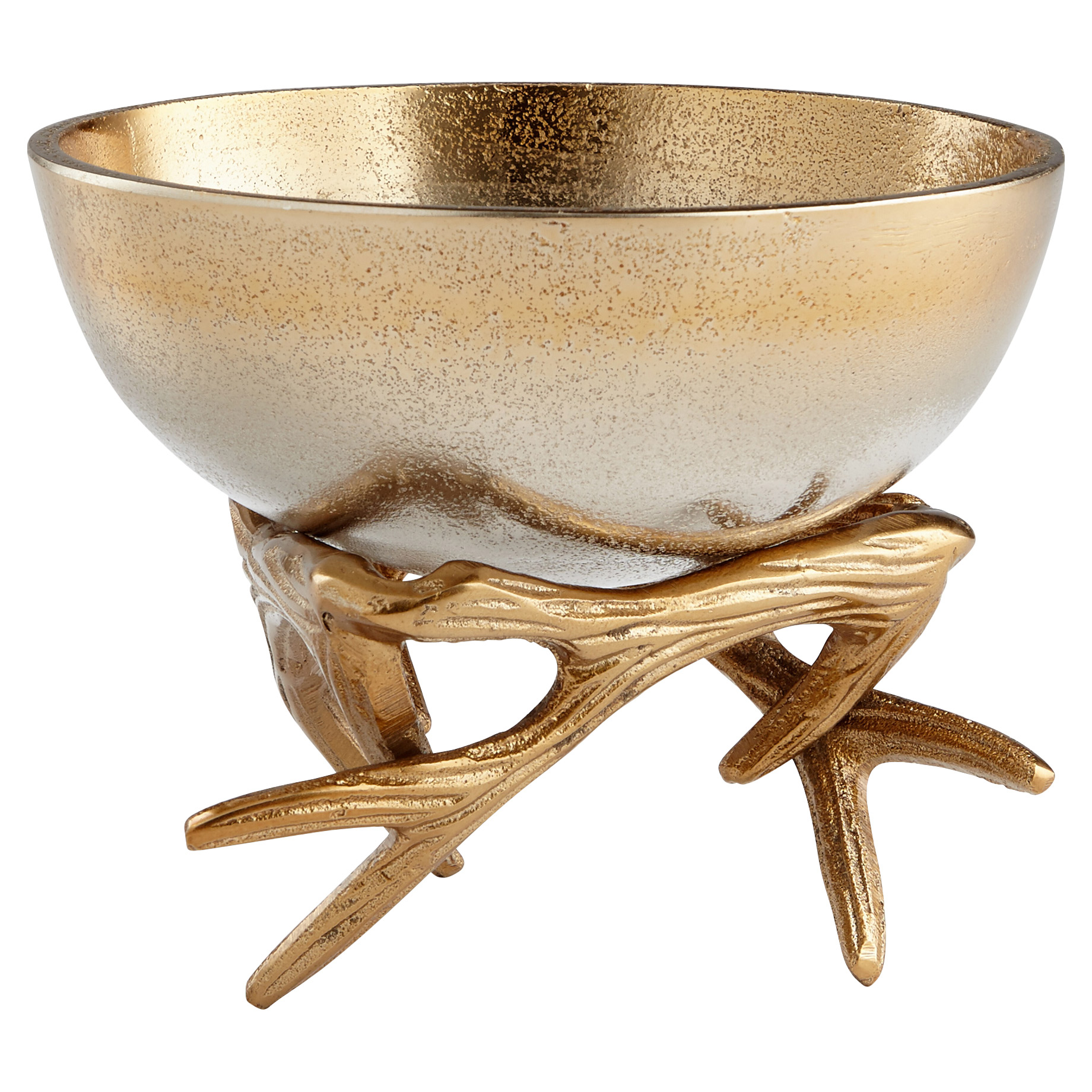 Dasher Metallic Ombre Gold Antler Bowl - Small