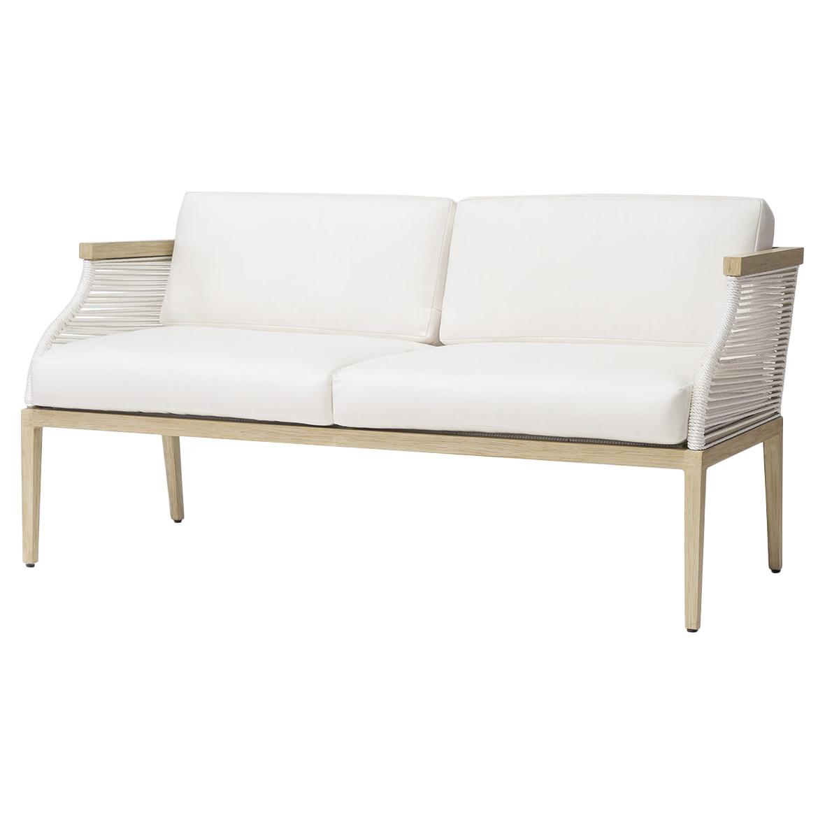 Superb Palecek Sausalito Modern Marine Rope White Outdoor Sofa