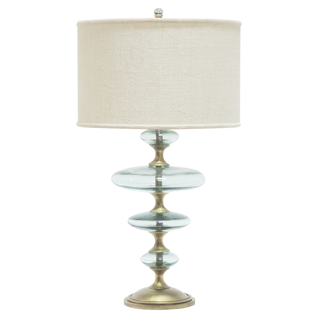 Granger Global Recycled Glass Disc Gold Table Lamp