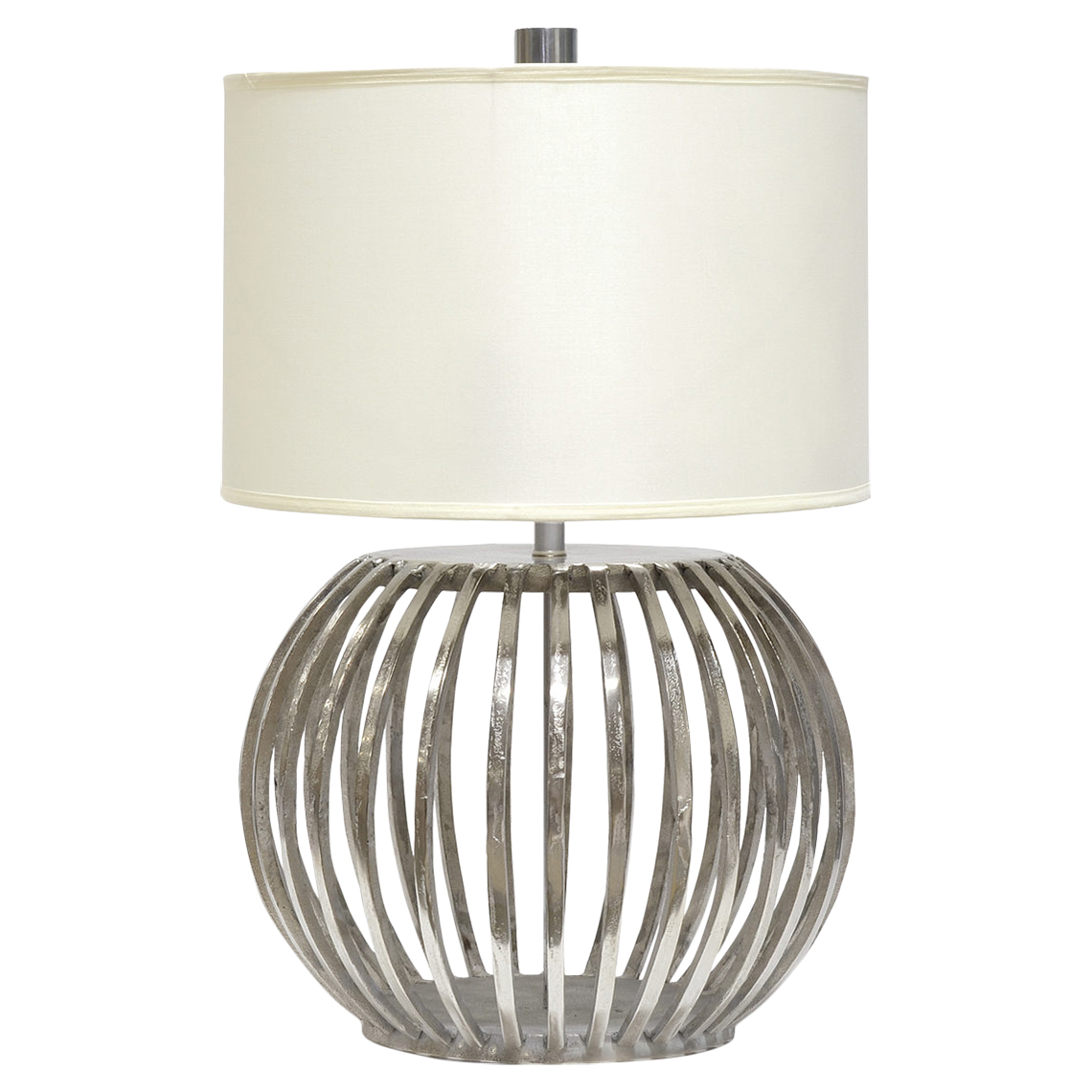 Lonnie Modern Classic Silver Orb Table Lamp