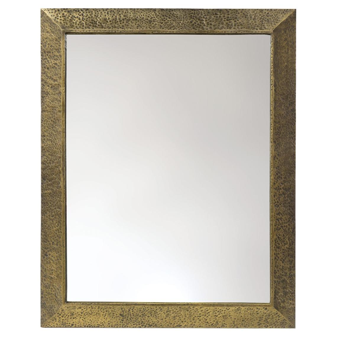 Jaron Global Bazaar Hammered Antique Brass Mirror