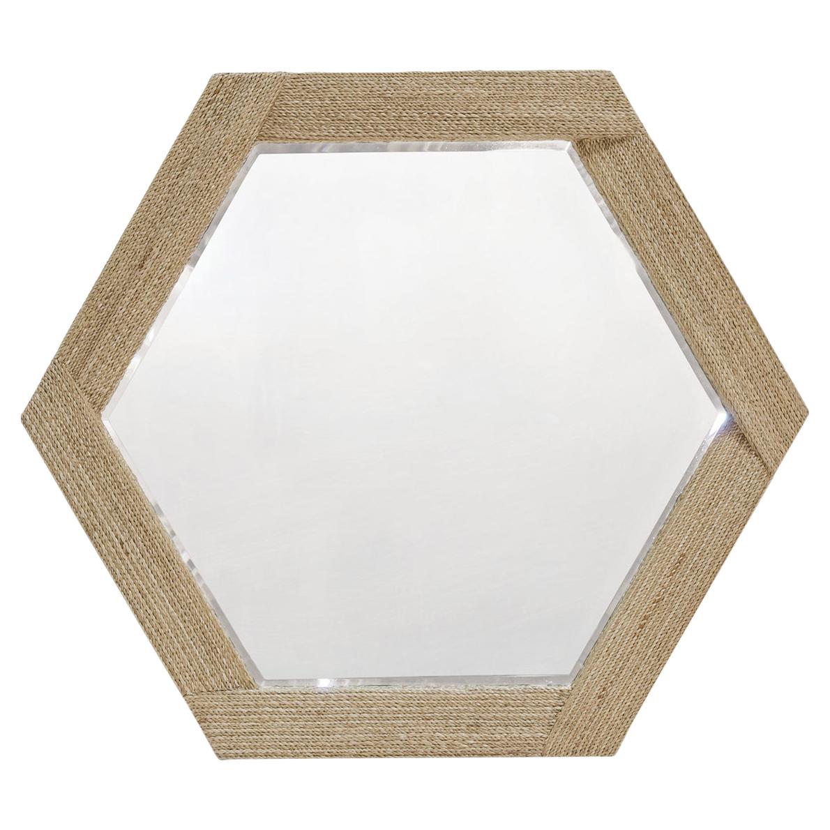 Alethea Coastal Natural Seagrass Rope Hexagon Mirror