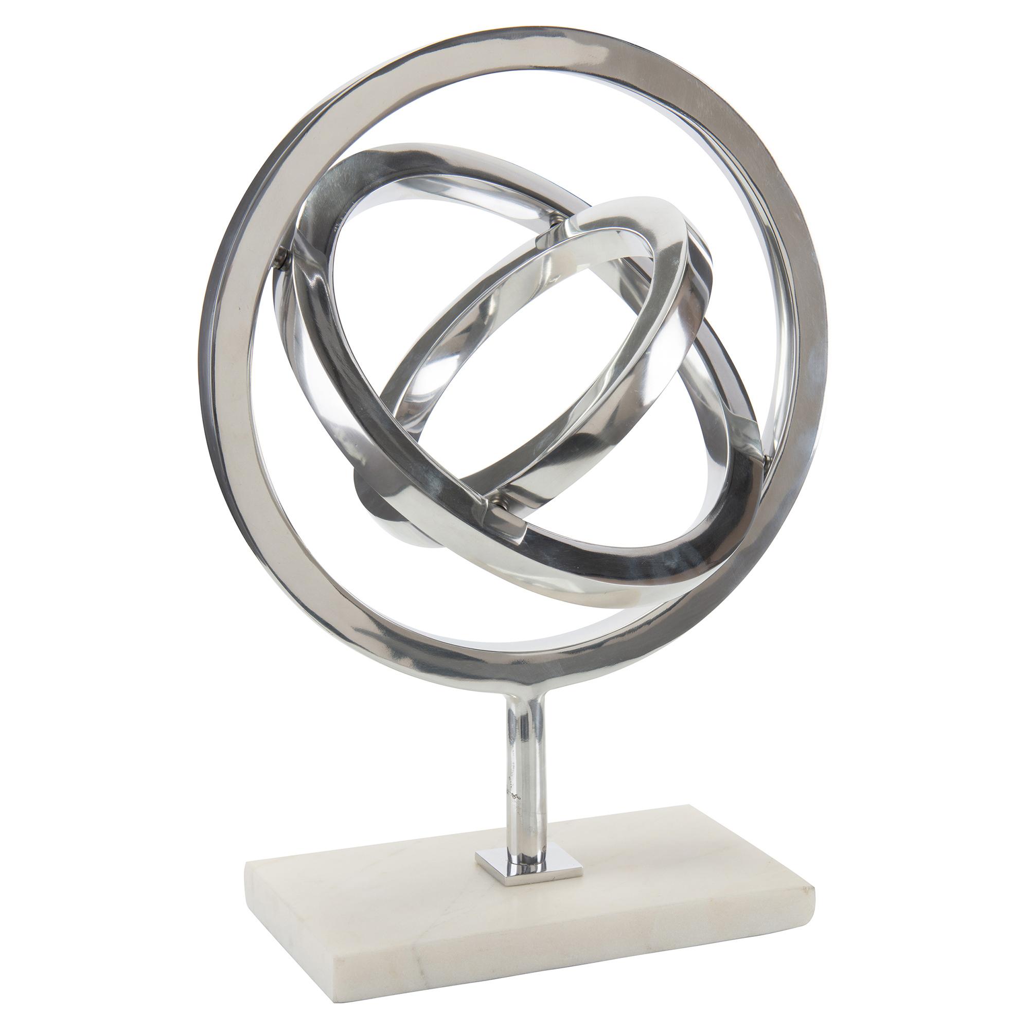 Pavegen Kinetic Silver Modern Marble Sculpture