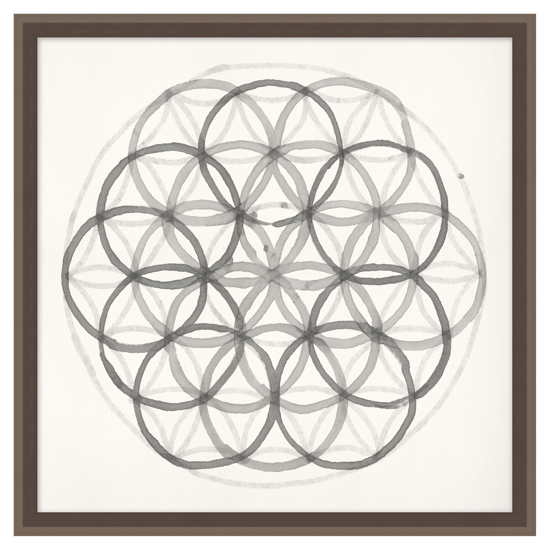 Geometry Fractal Sphere Soft Grey Contemporary Art