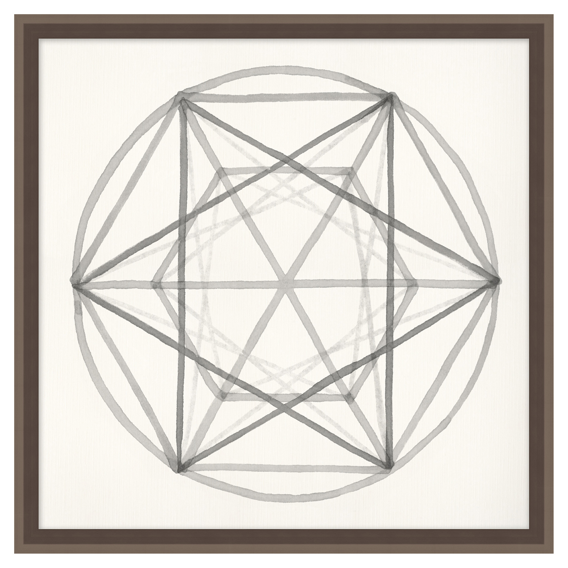 Geometry Platonic Solid Soft Grey Contemporary Art