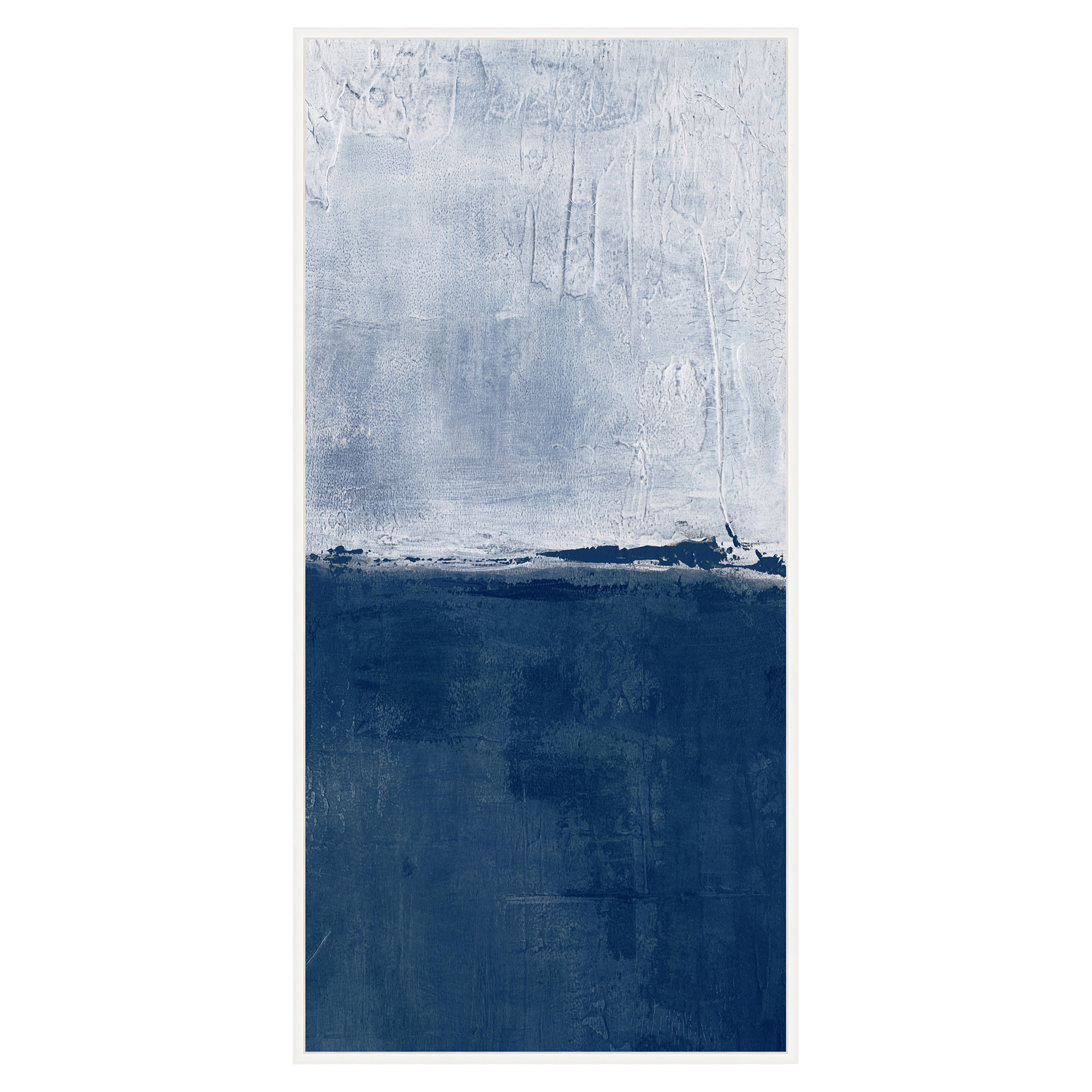 Navy Dive Blue Abstract Tall Canvas - I