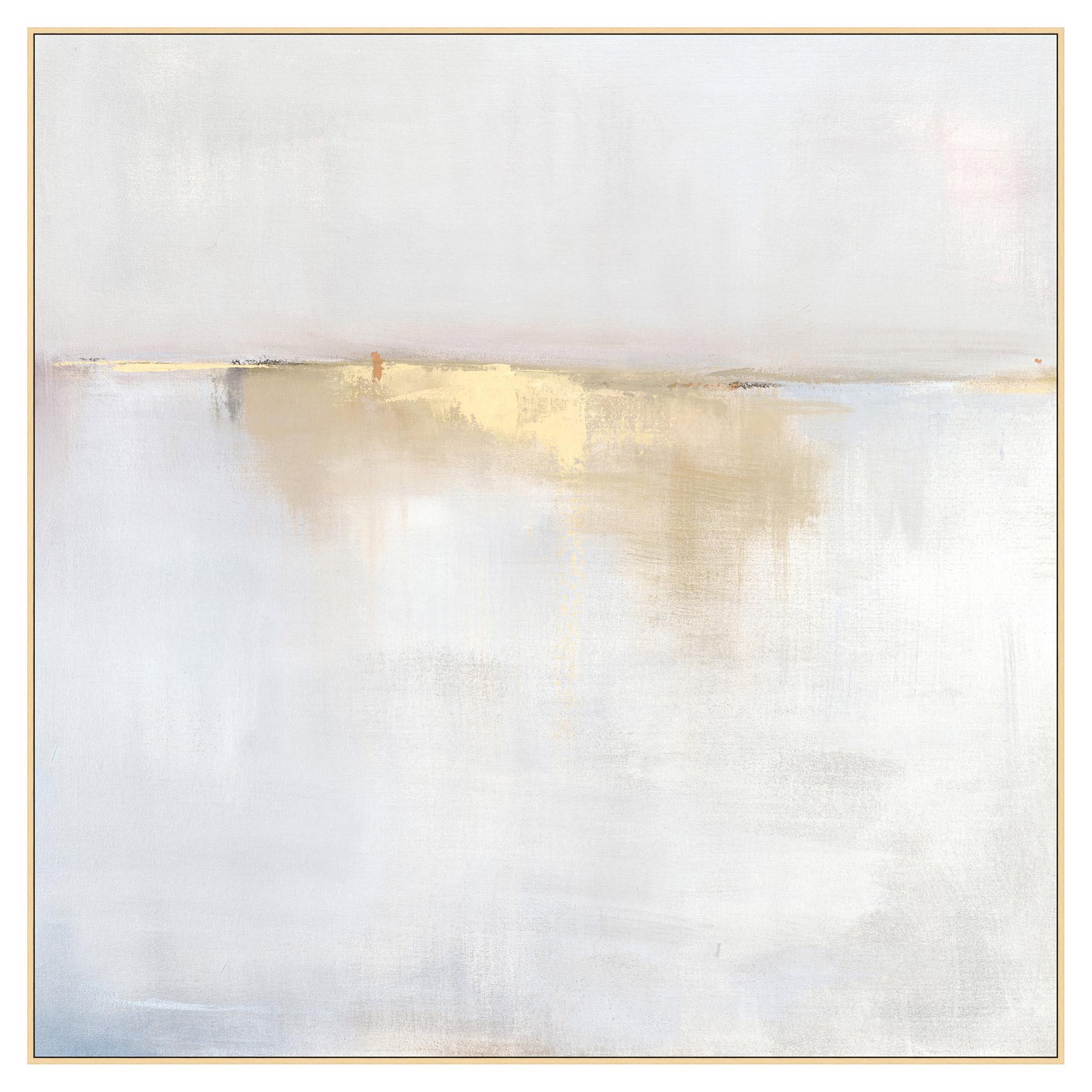 Fog Mist Sea Grey Abstract Canvas - II