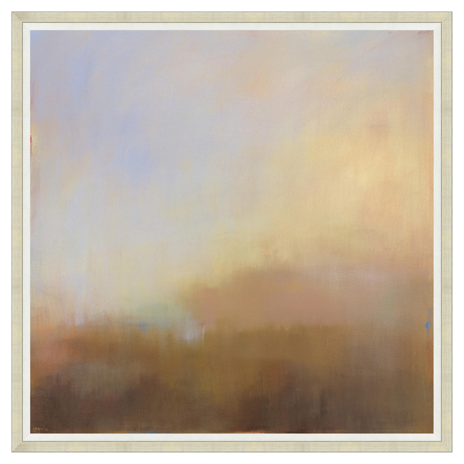 Sunset Mist Tonal Abstract Painting