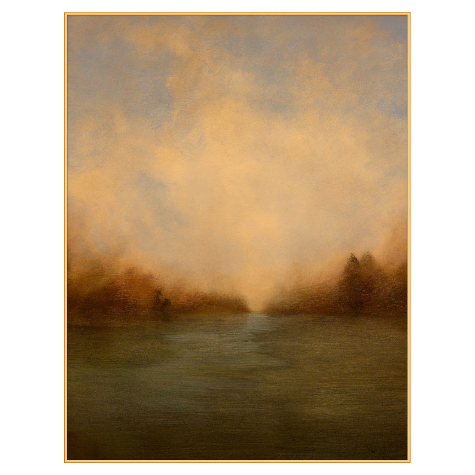 Warm Prarie Summer Abstract Landscape Canvas Painting