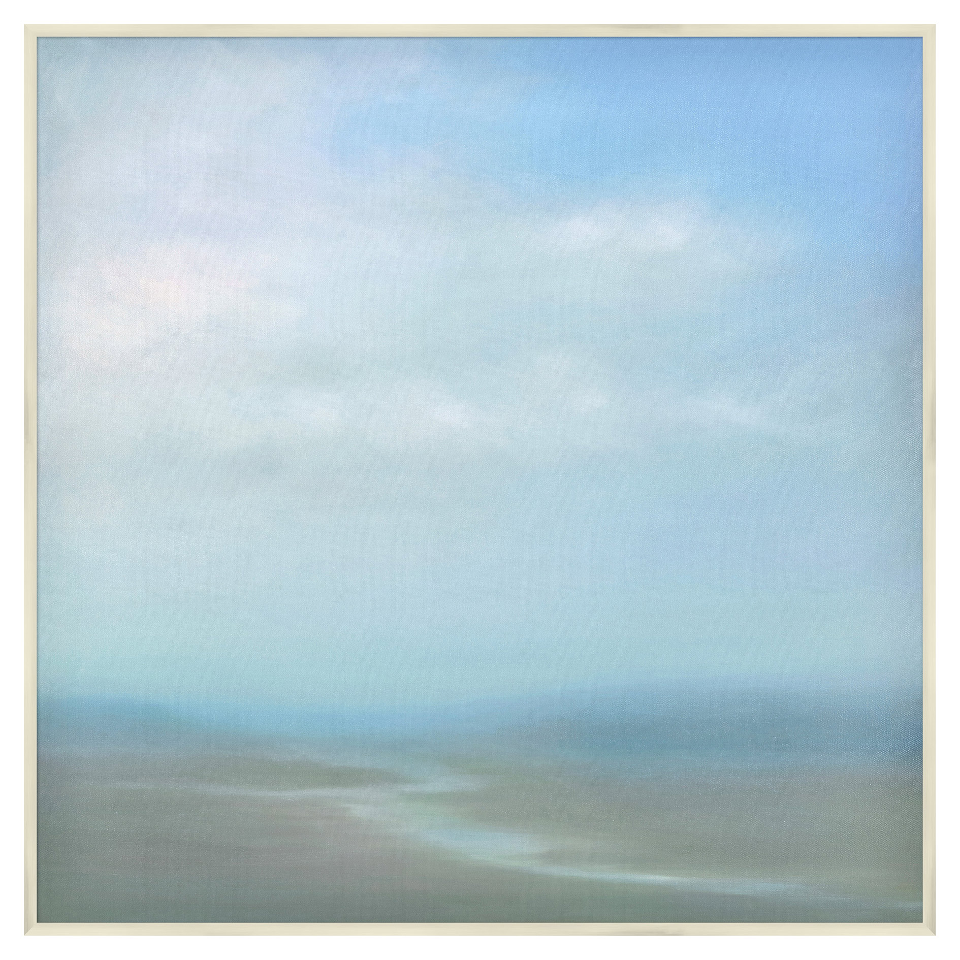 River Run Abstract Sky Blue Giclee Canvas Painting