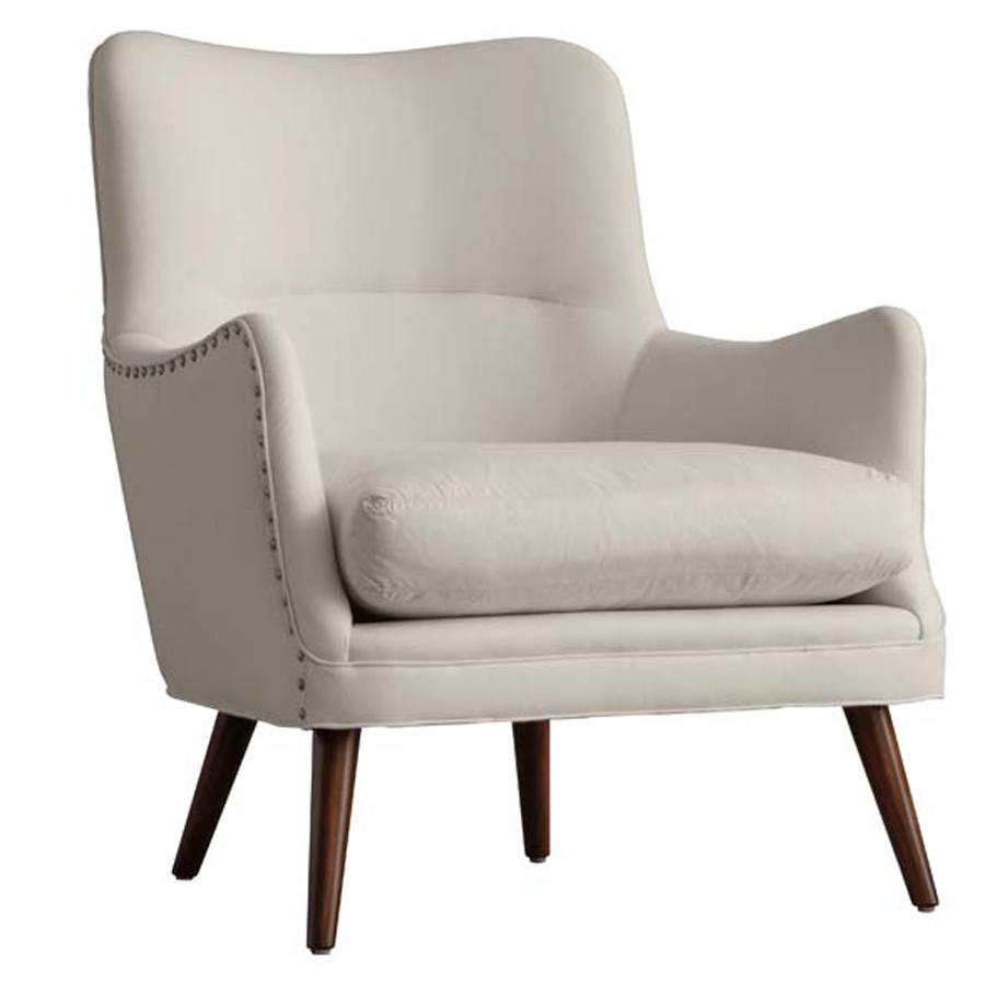 Seger Chair in Muslin and Dark Walnut