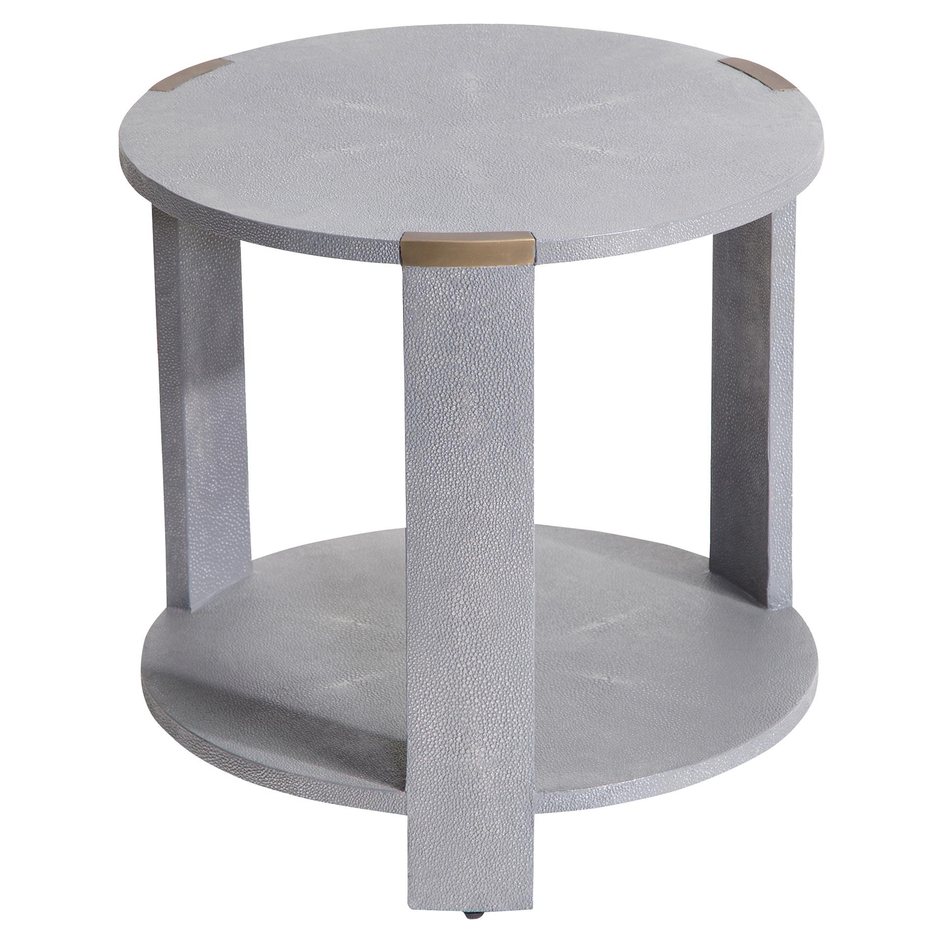 Darren Regency Grey Faux Shagreen End Table