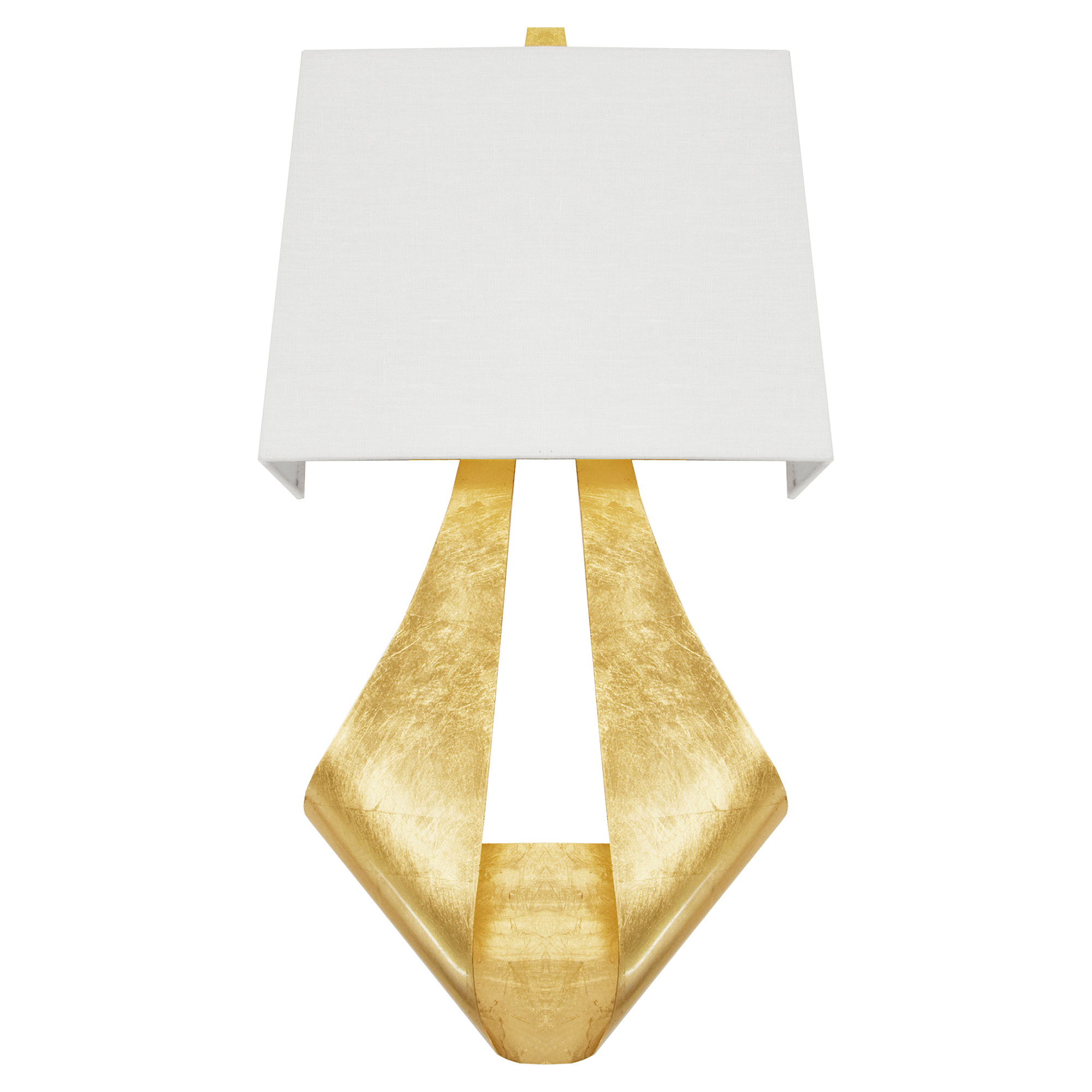 Jamiya Regency Gold Leaf Folded Ribbon Sconce