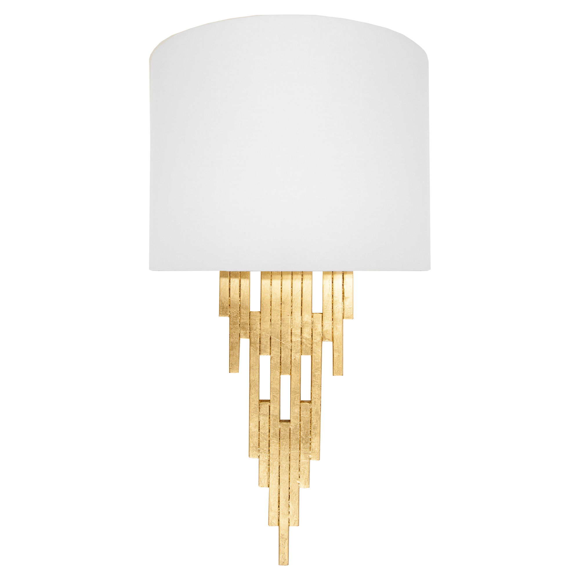 Dilys Regency Modern Gold Leaf Tapering Sconce