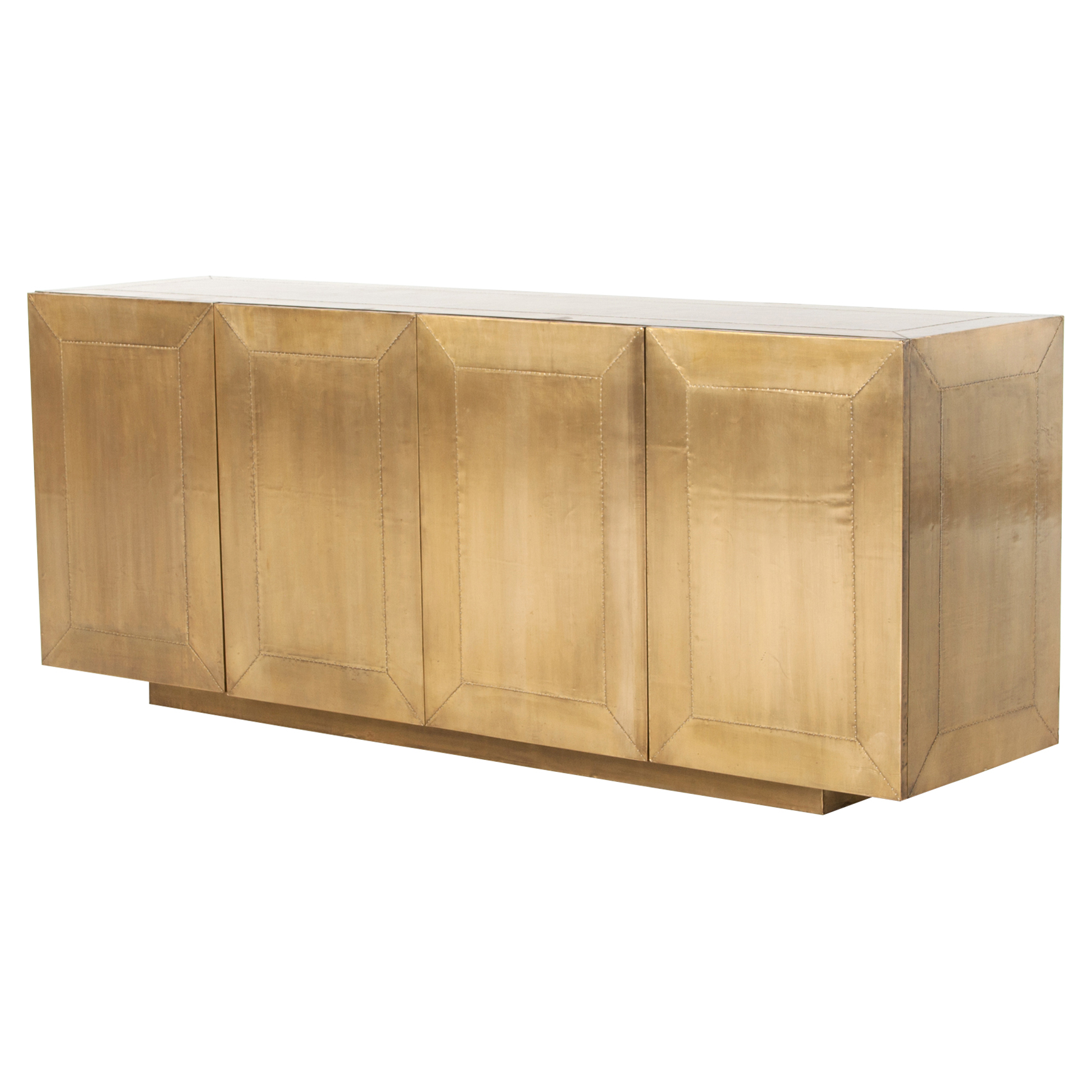 Ketzia Hollywood Regency Aged Brass Sideboard