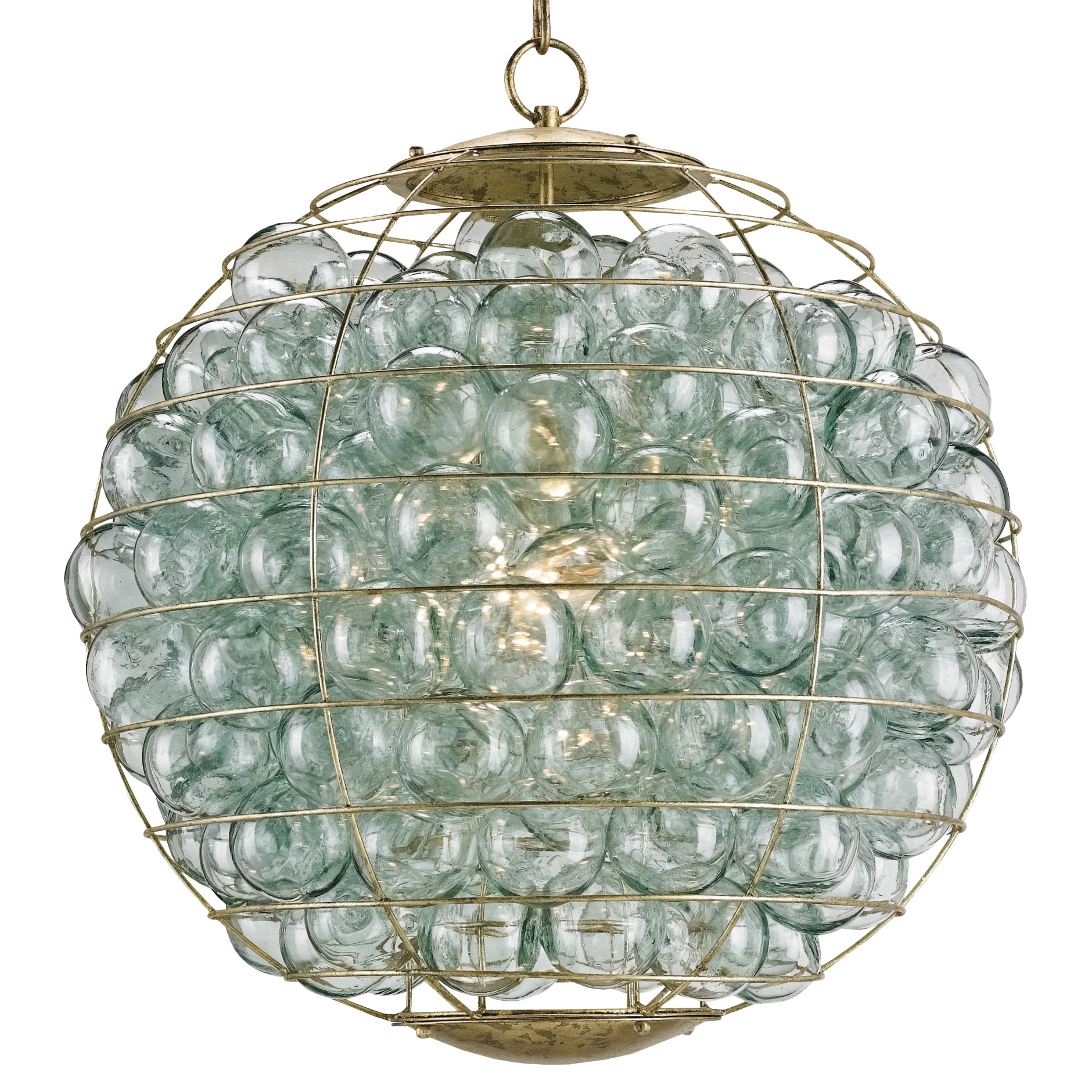 Bellows Modern Recycled Glass Bubble Orb Pendant