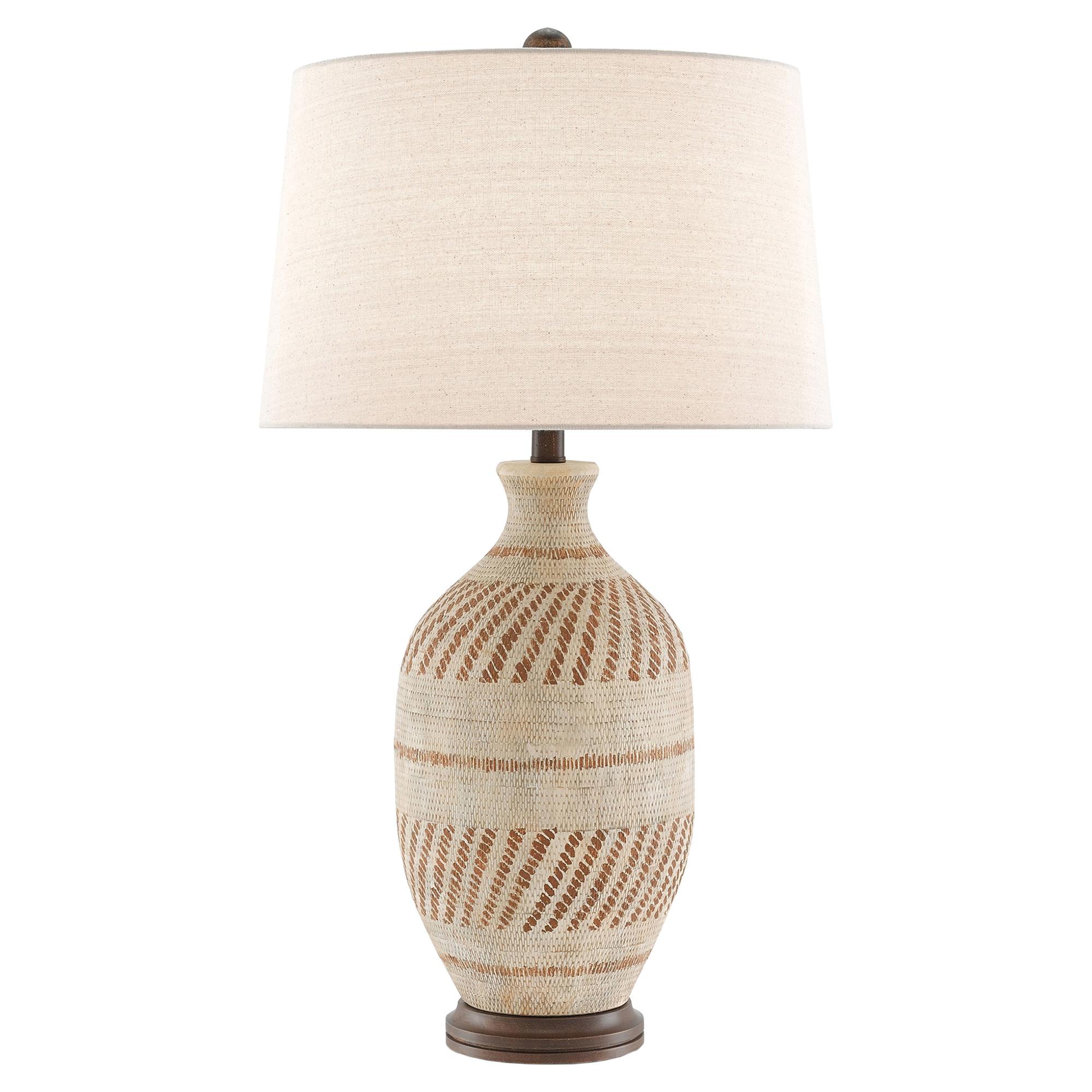 Hassan Bazaar Basketweave Terracotta Table Lamp