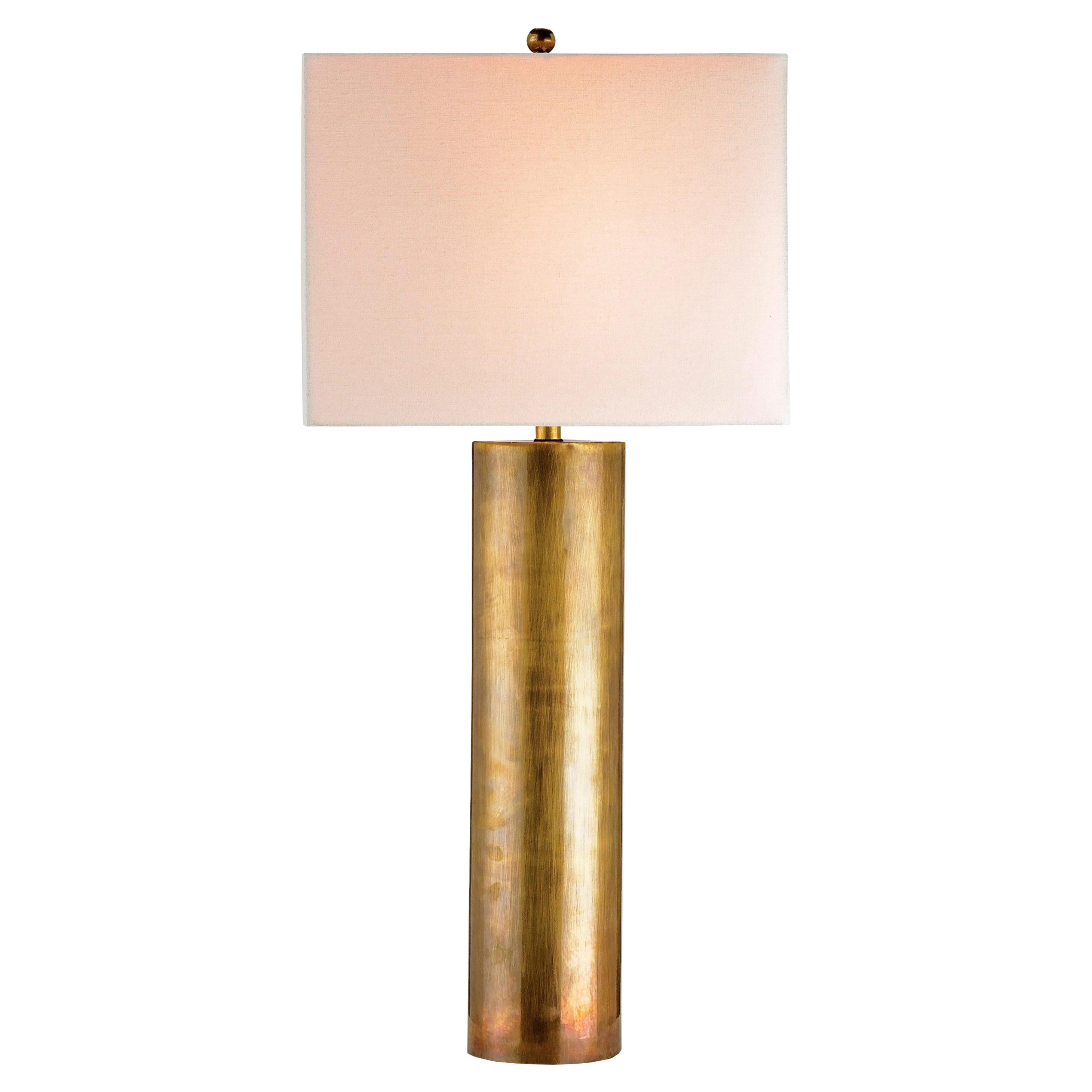 Vasco Loft Regency Vintage Brass Column Table Lamp