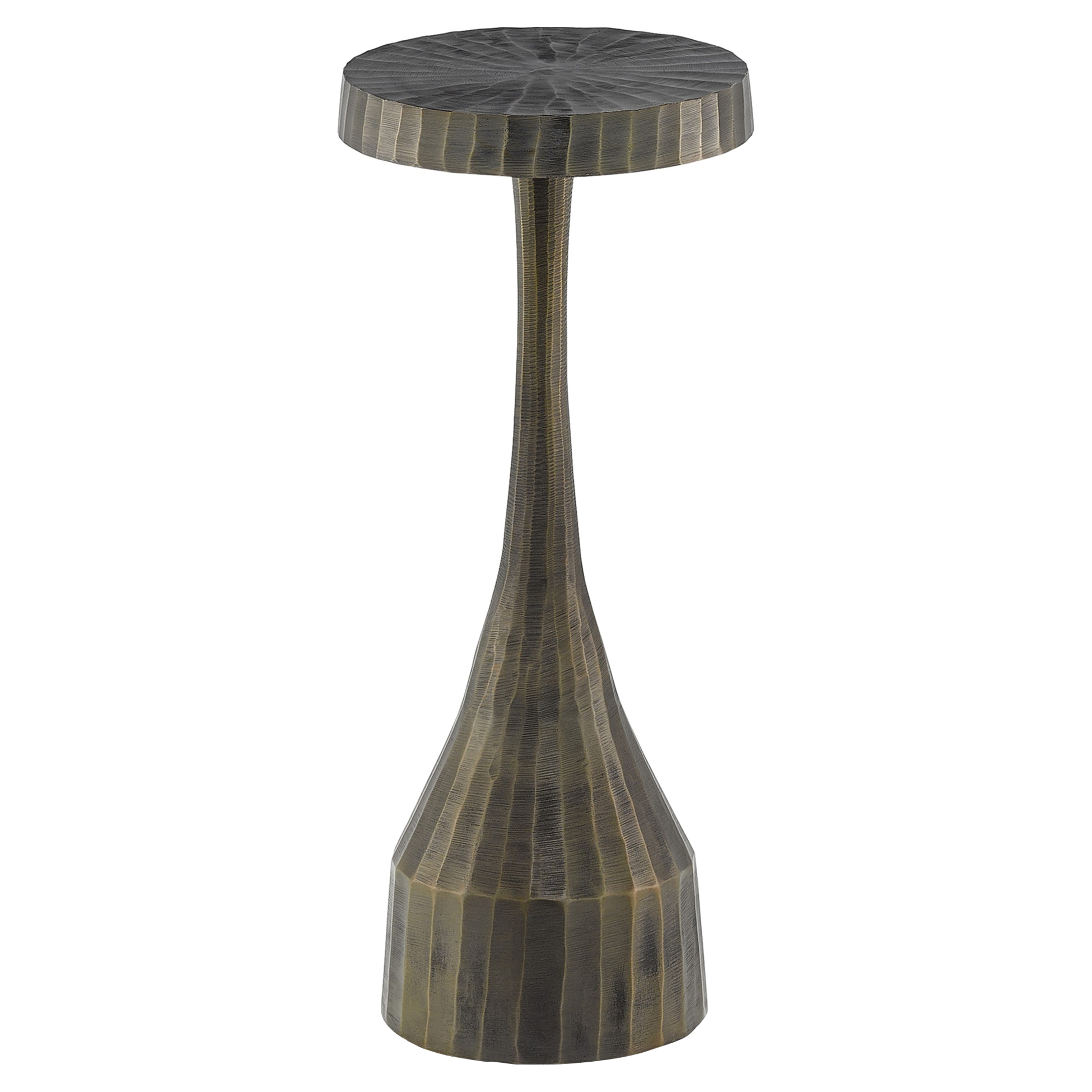 Herbie Loft Brushed Brass Hourglass Drink Table
