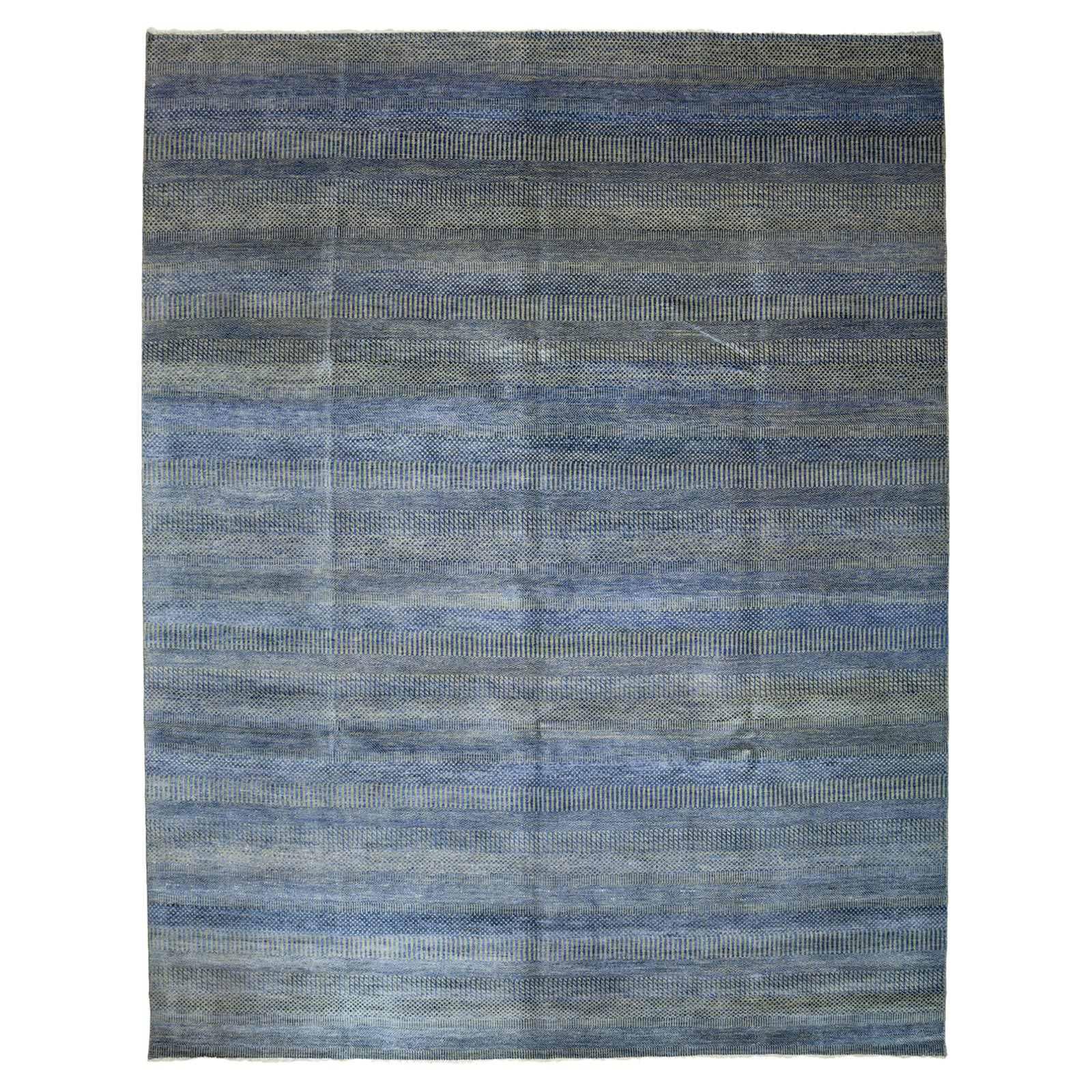 Frazier Blue Sage Small Pattern Wool Rug - 9'2 x 11'8