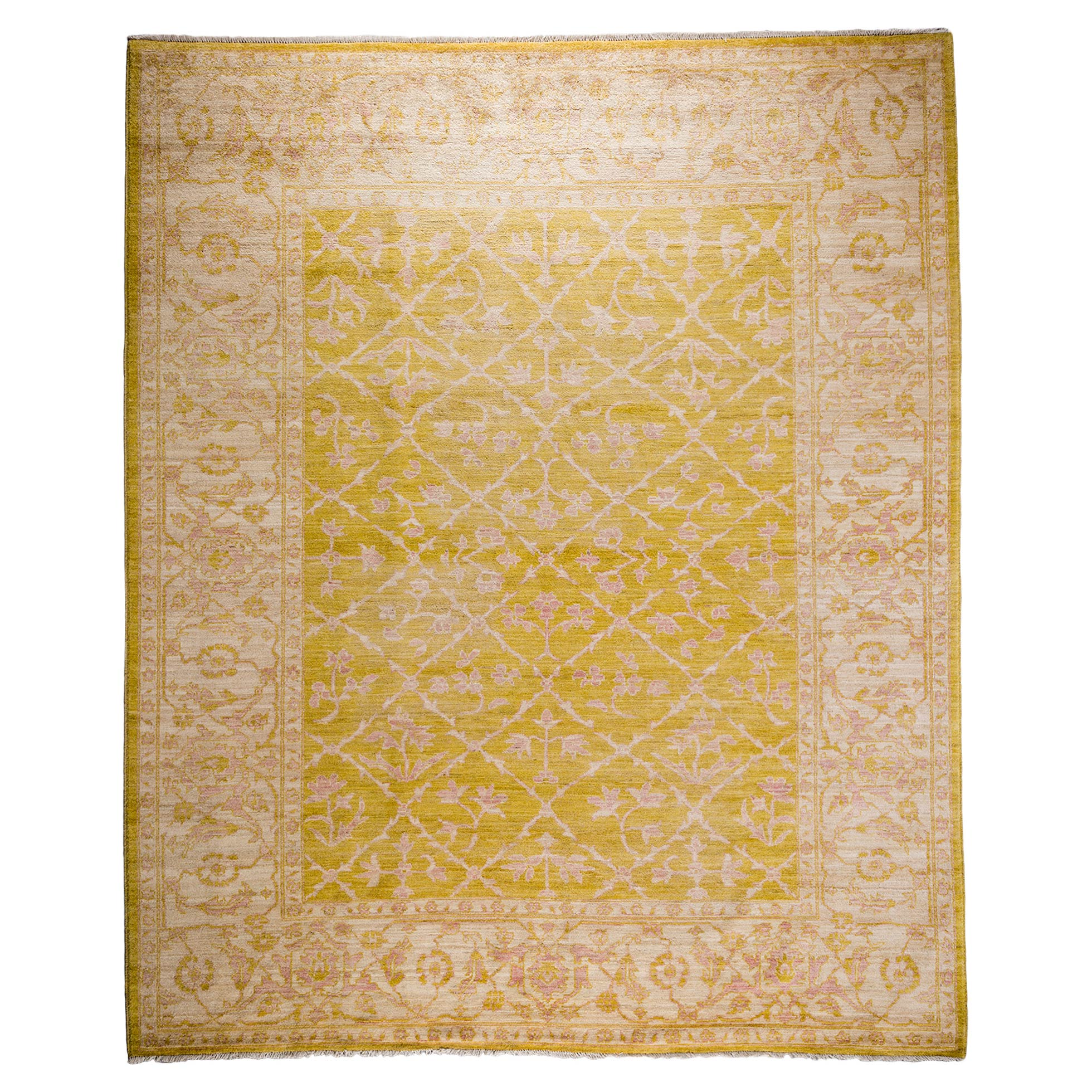 Jonquil French Yellow Oushak Wool Rug - 8'3 x 10'1