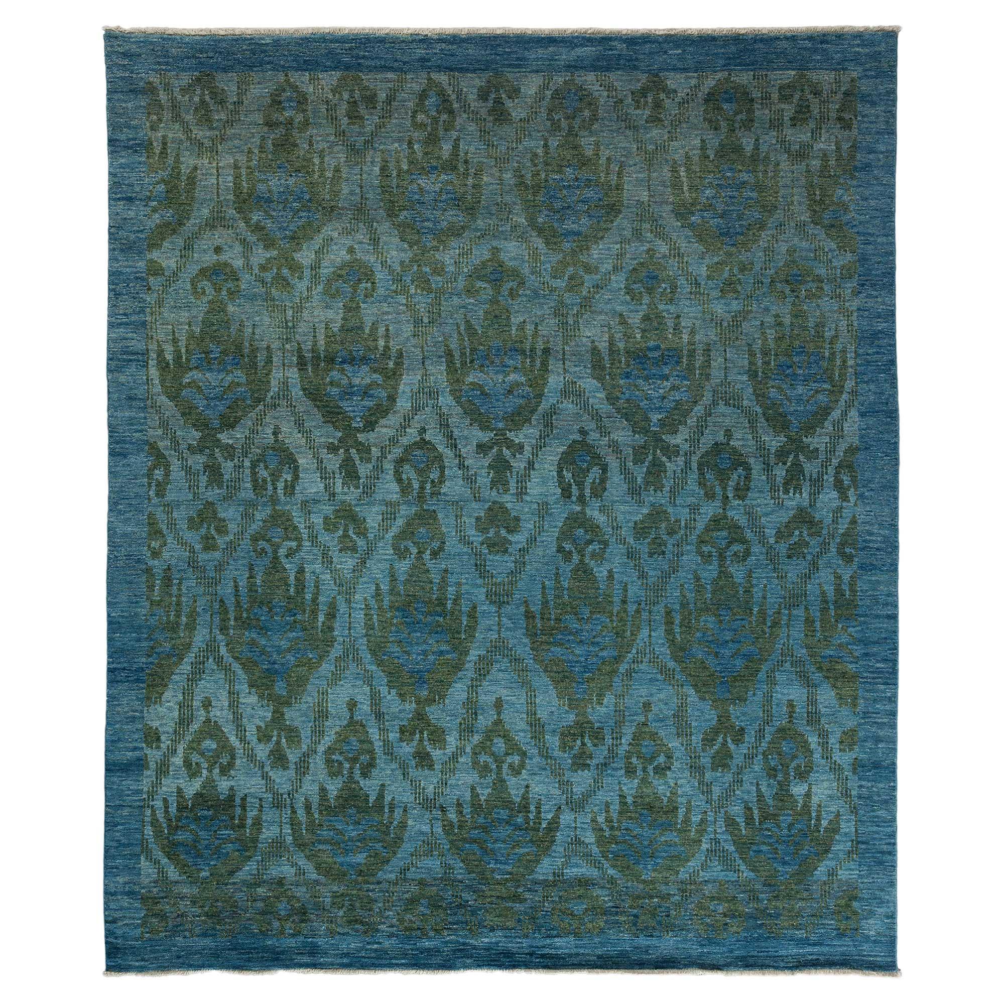 Lupe Regency Indigo Oushak Medallion Wool Rug - 8'4 x 10