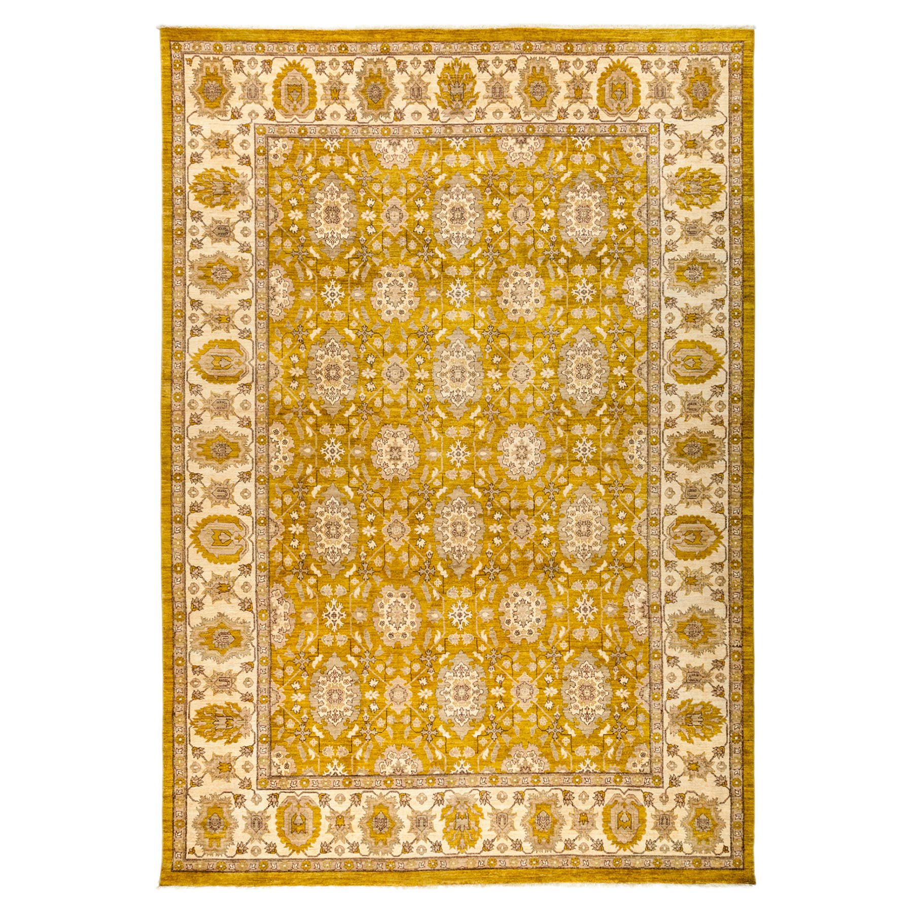 Justina French Beige Goldenrod Wool Rug - 10'3 x 14'9