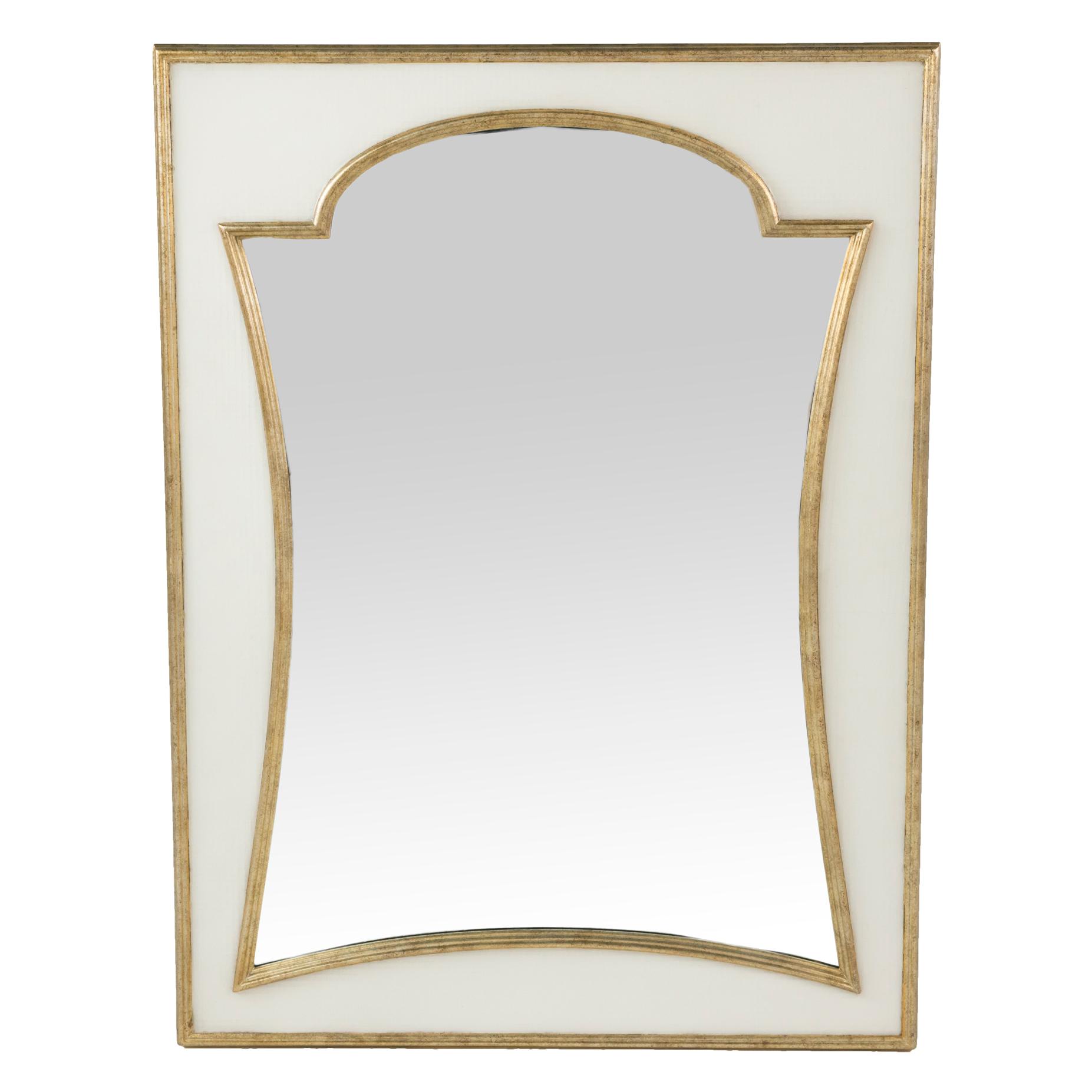 Regency Champagne Seagrass Mirror