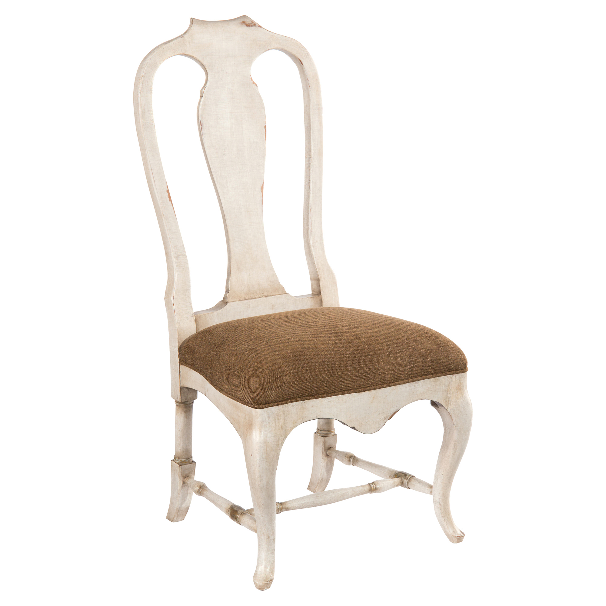 Madelle Rustic Ivory Brown French Country Side Chair