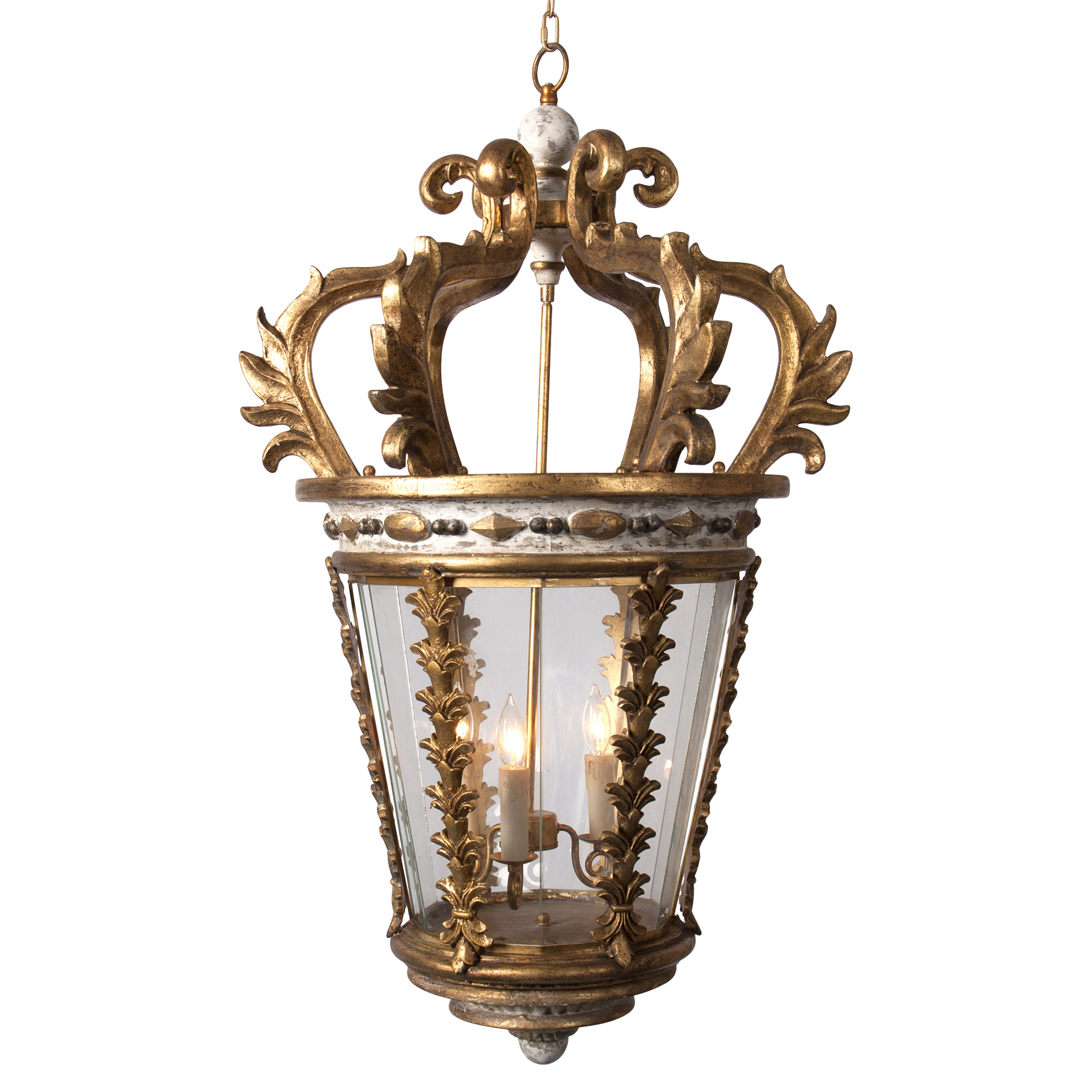 Marcelo French Country Regal Gold Ivory Lantern