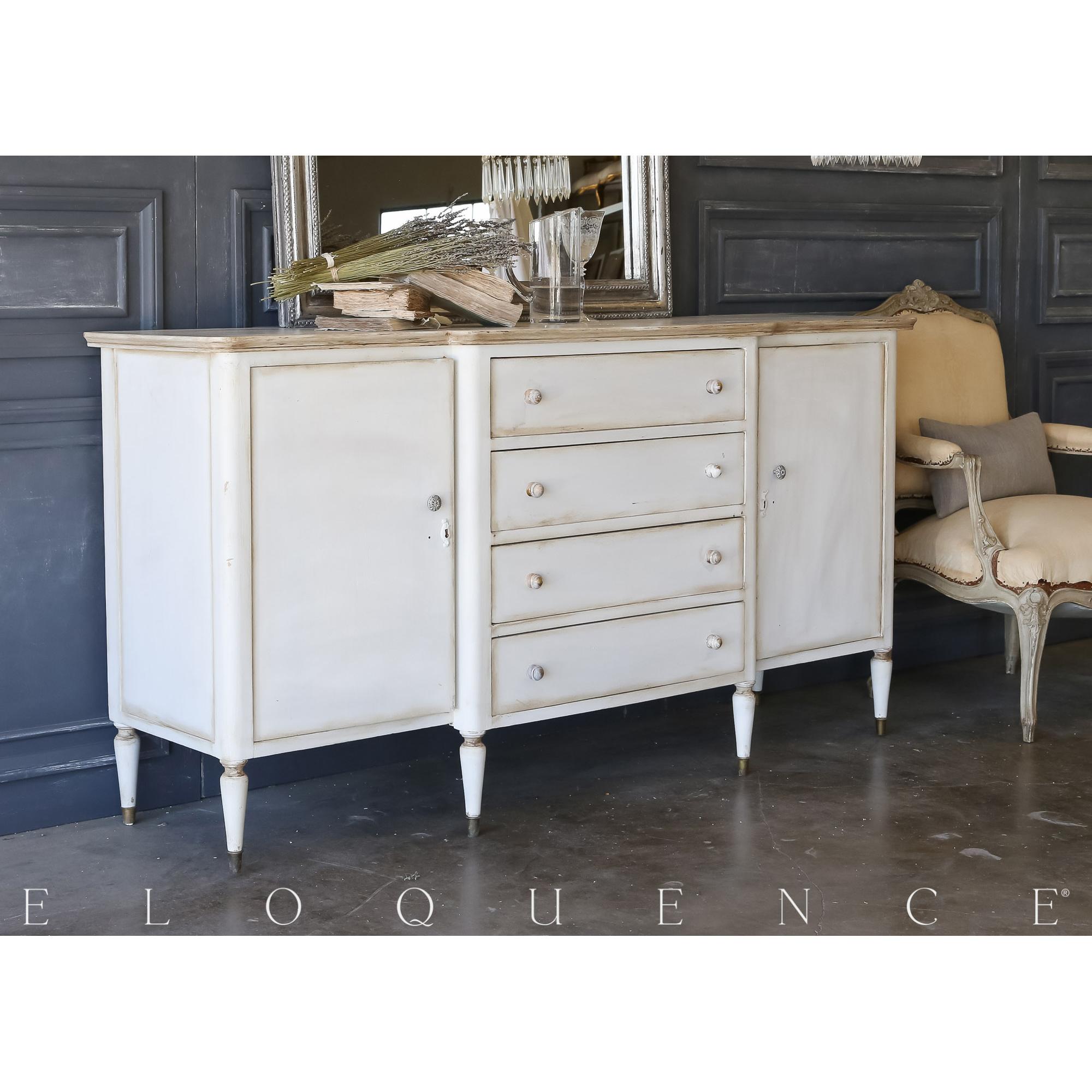 Eloquence® Vintage Pale Grey Sideboard: 1940