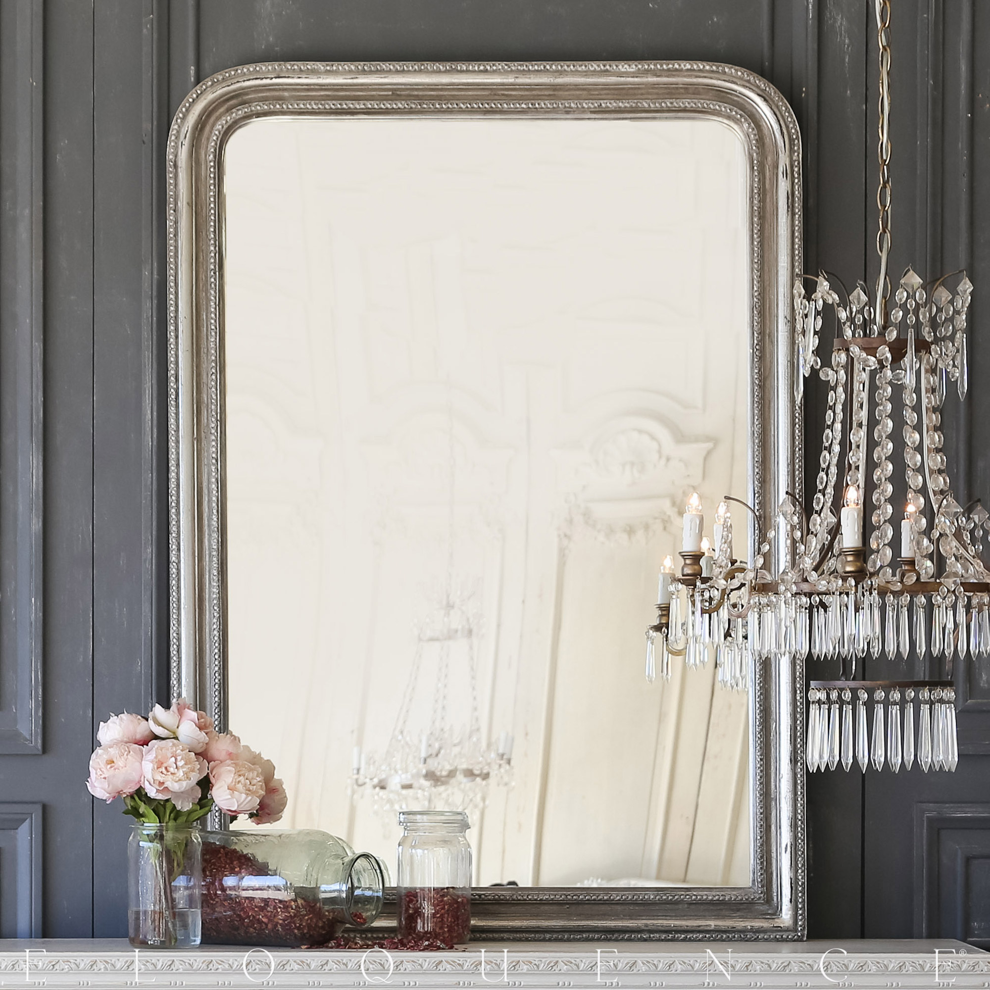 Eloquence® Louis Philippe Mirror in Silver