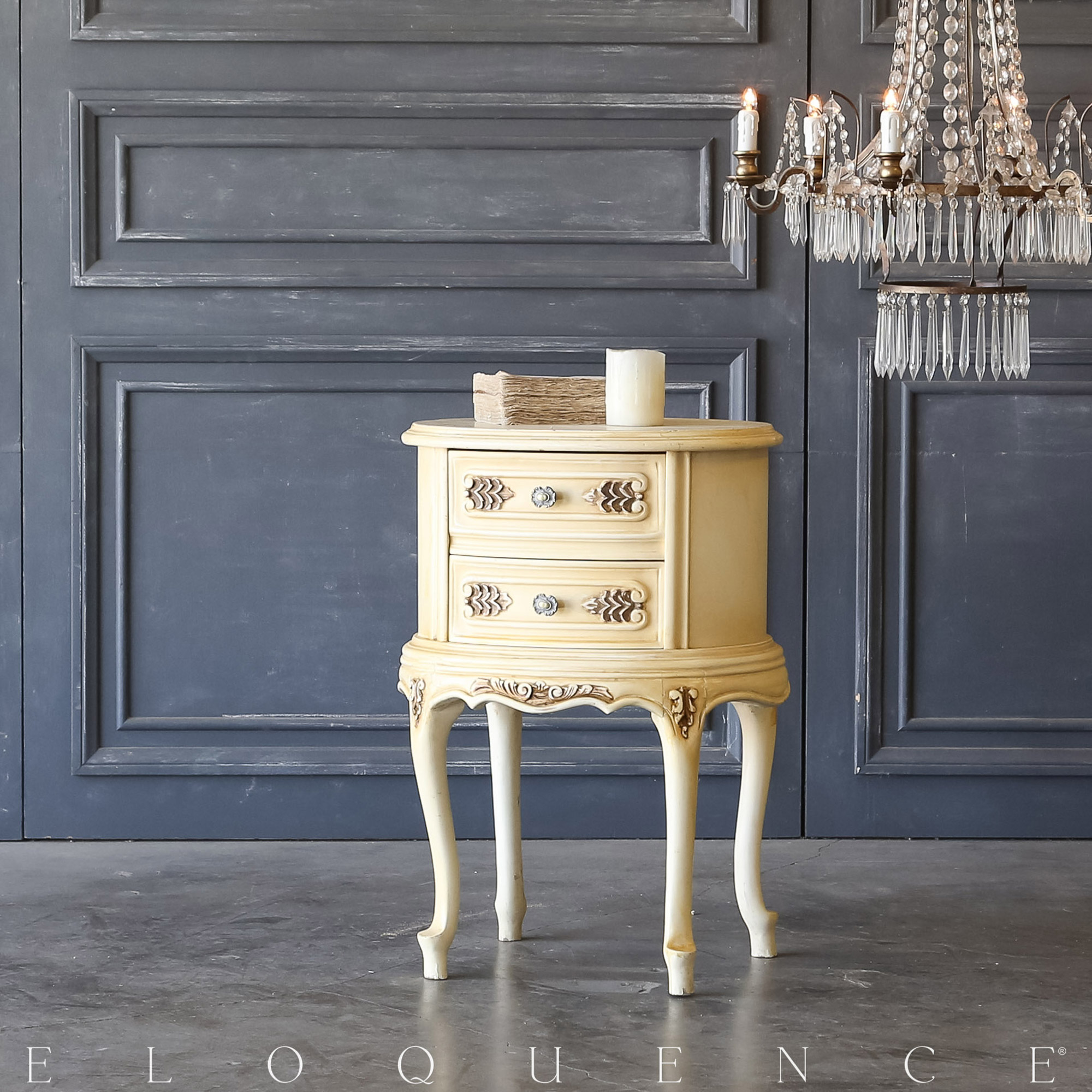 Eloquence® Vintage Buttercream Nightstand: 1940