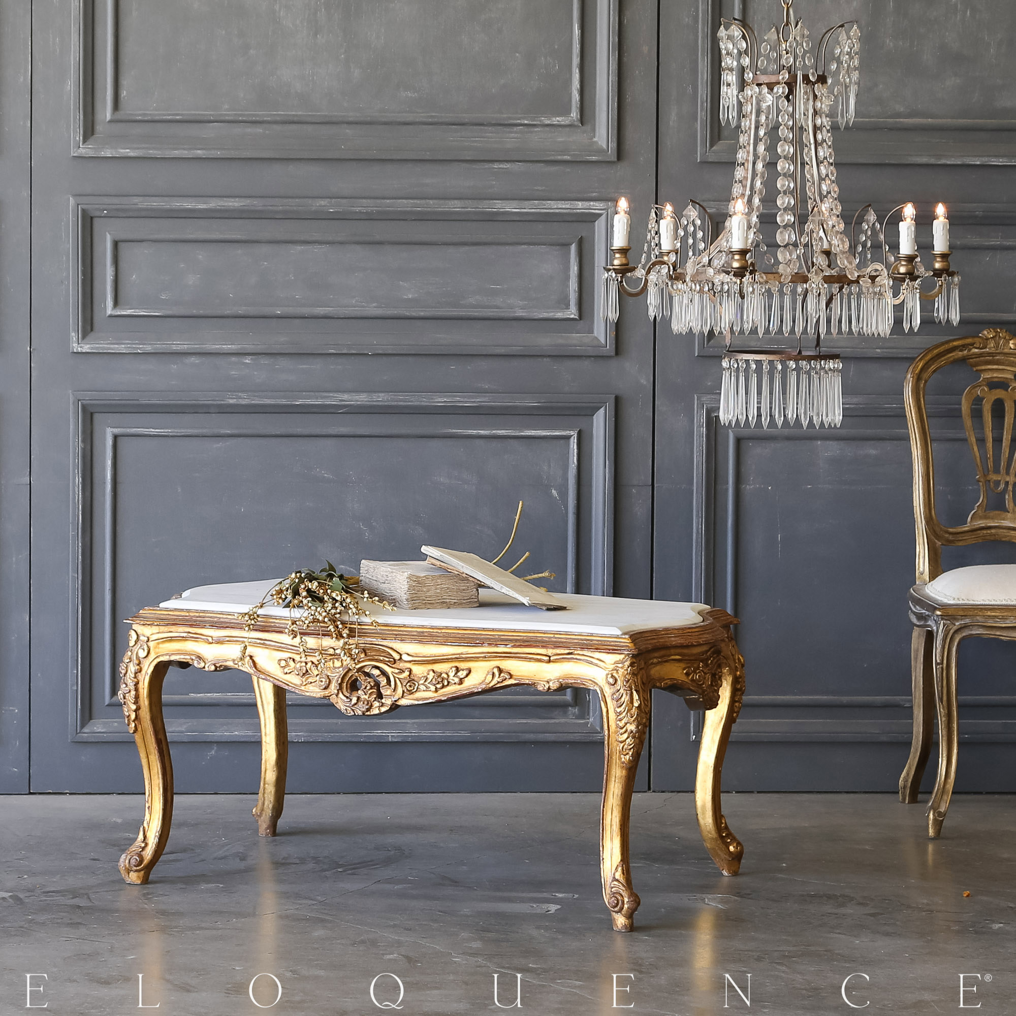Eloquence® Vintage Regal Gold Coffee Table: 1940