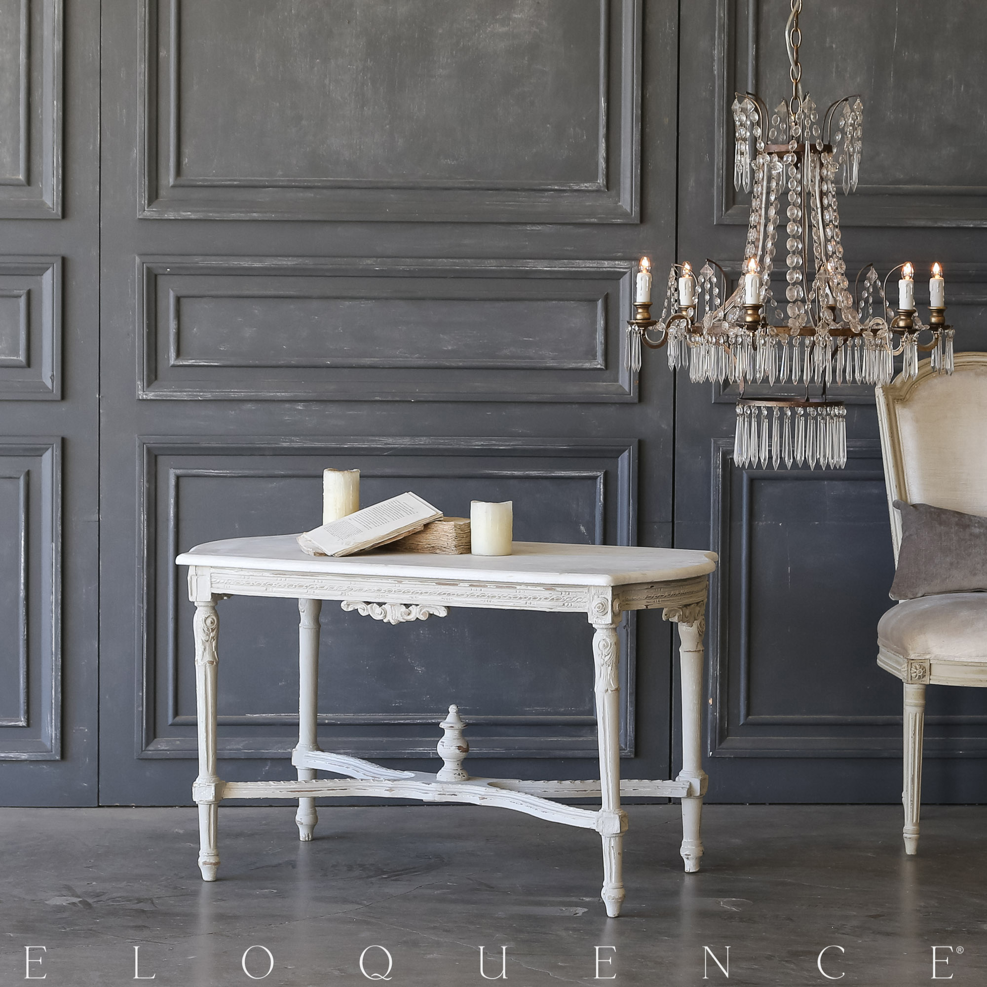 Eloquence® Vintage Powder Blue Coffee Table: 1940