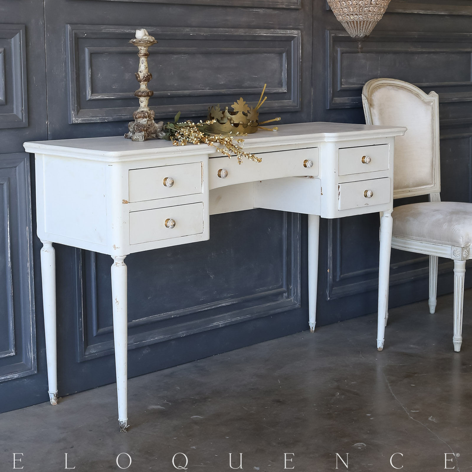 Eloquence® Vintage Pale Dove Vanity: 1950