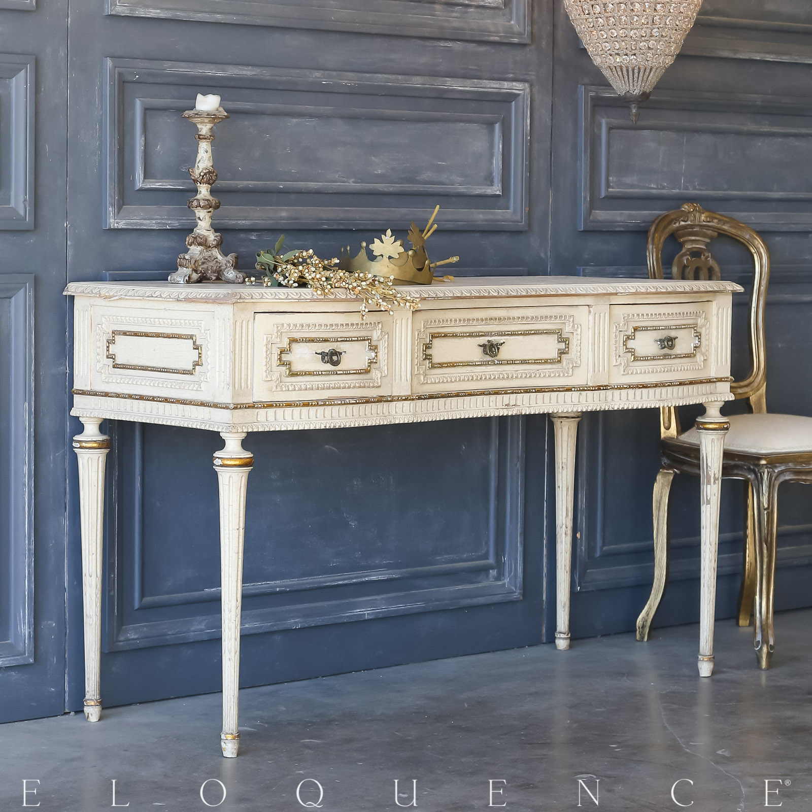 Eloquence® Vintage Gilt Apricot Vanity: 1940