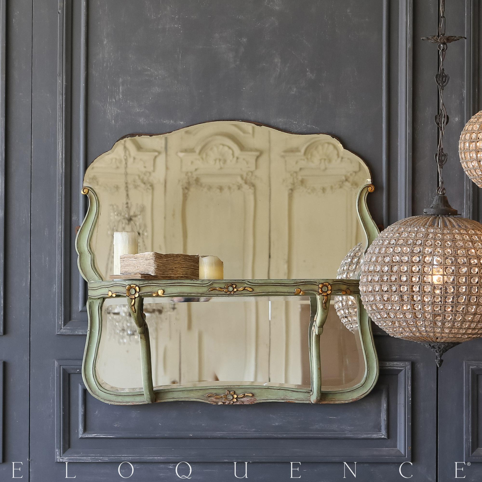 Eloquence® Vintage Fern Green Mirrored Shelf: 1940