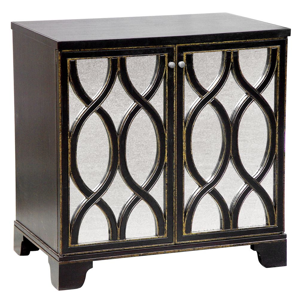 Elisabeth Oly Antique Mirror Brown Nightstand